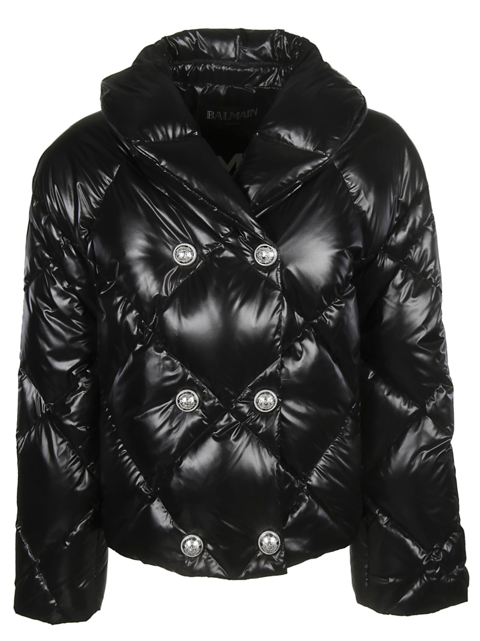 Balmain Double Breasted Quilted Jacket