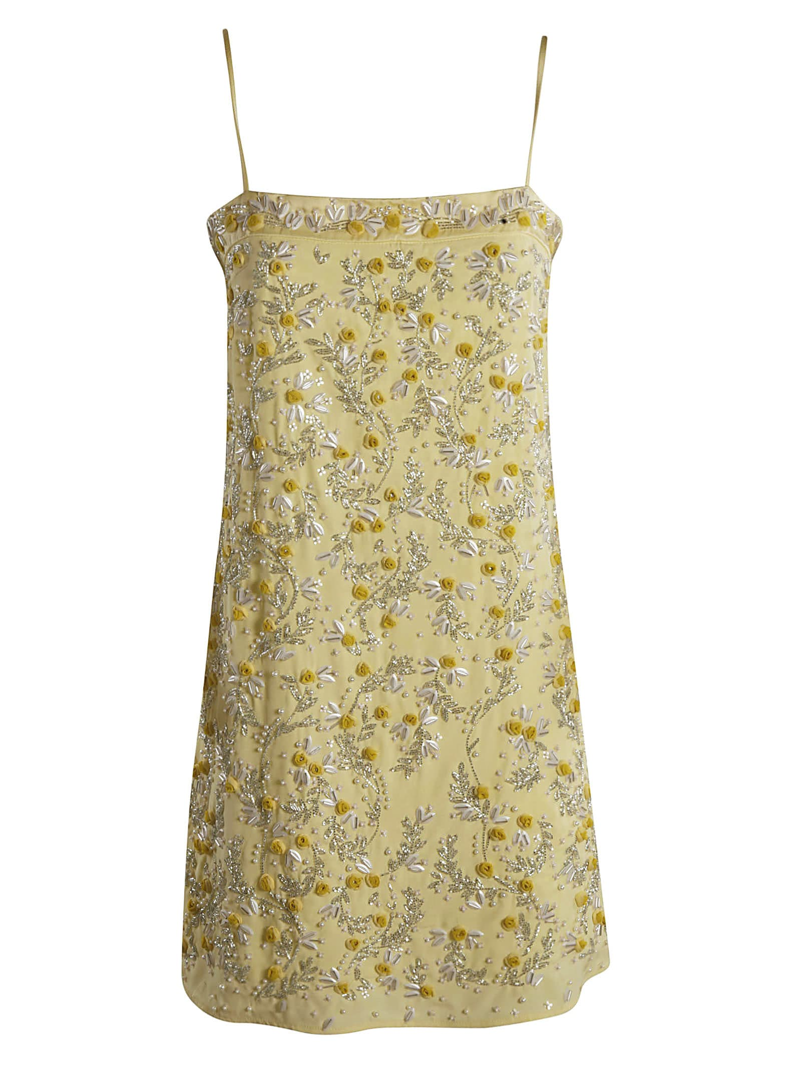 Blumarine Floral Applique Short Dress