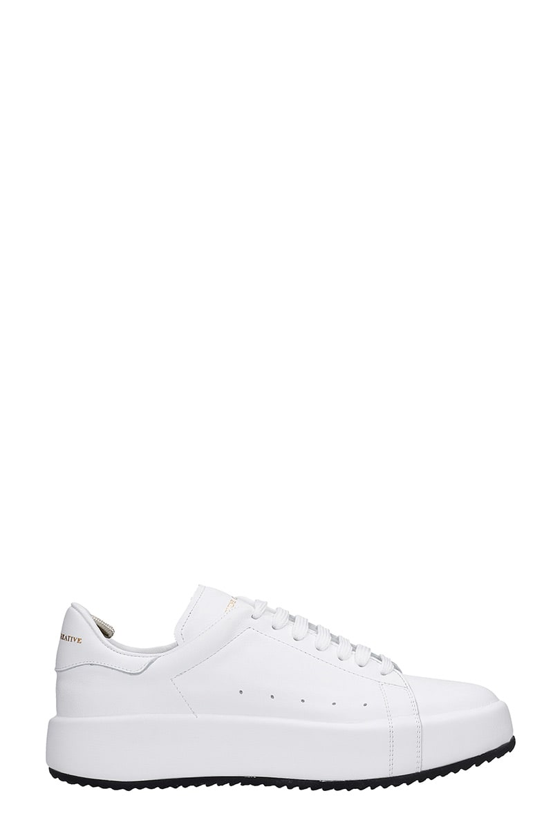 Officine Creative ACEPLUS 101 SNEAKERS IN WHITE LEATHER