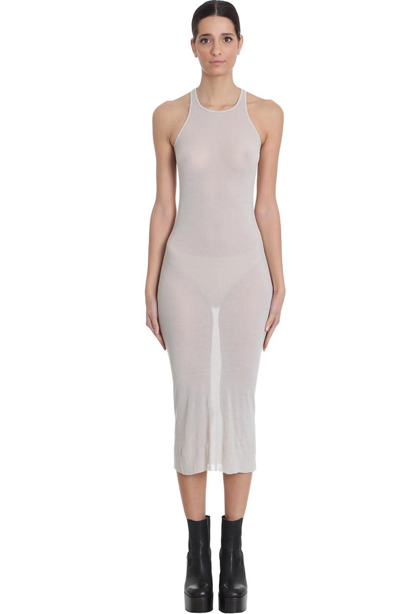 Buy Rick Owens Tank Dress Dress In Beige Viscose online, shop Rick Owens with free shipping