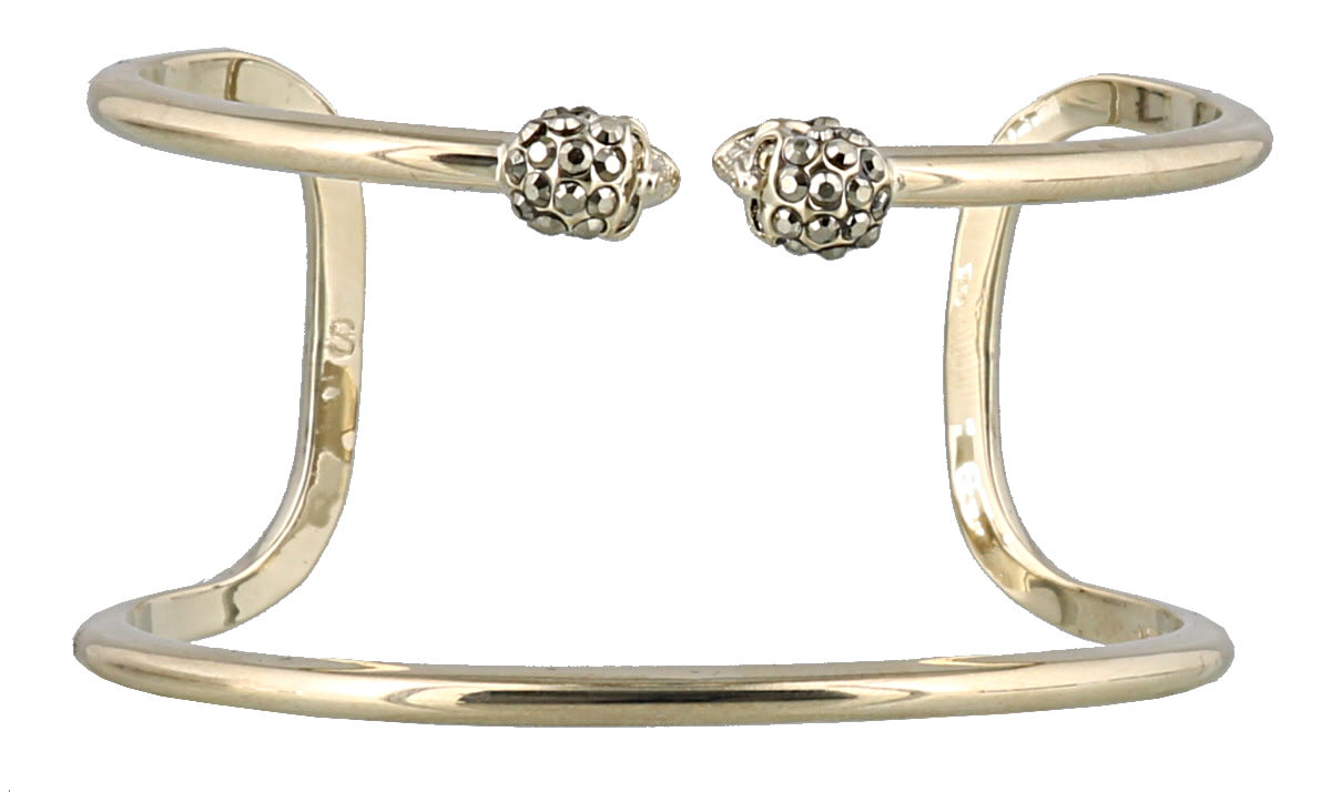 Alexander Mcqueen Double Wrap Skull Bangle