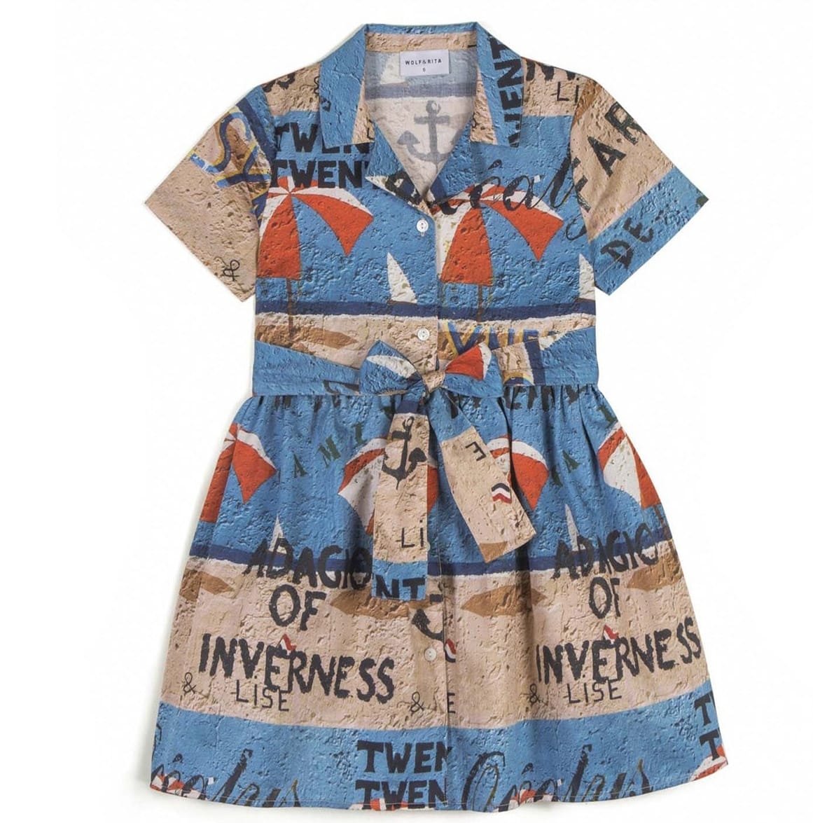 Buy Wolf & Rita Multicolor Dress For Girl online, shop Wolf & Rita with free shipping