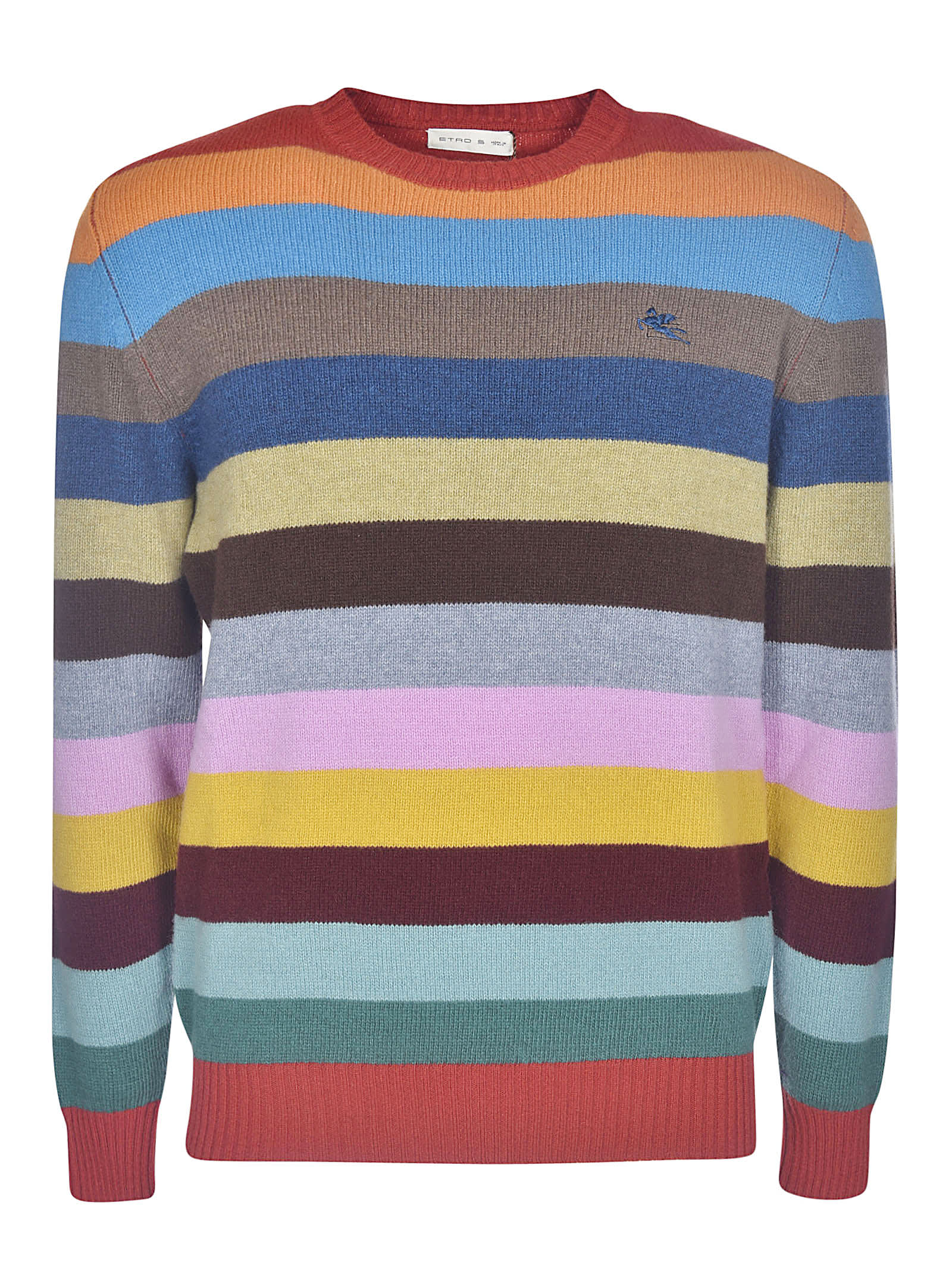 Etro Striped Logo Sweater