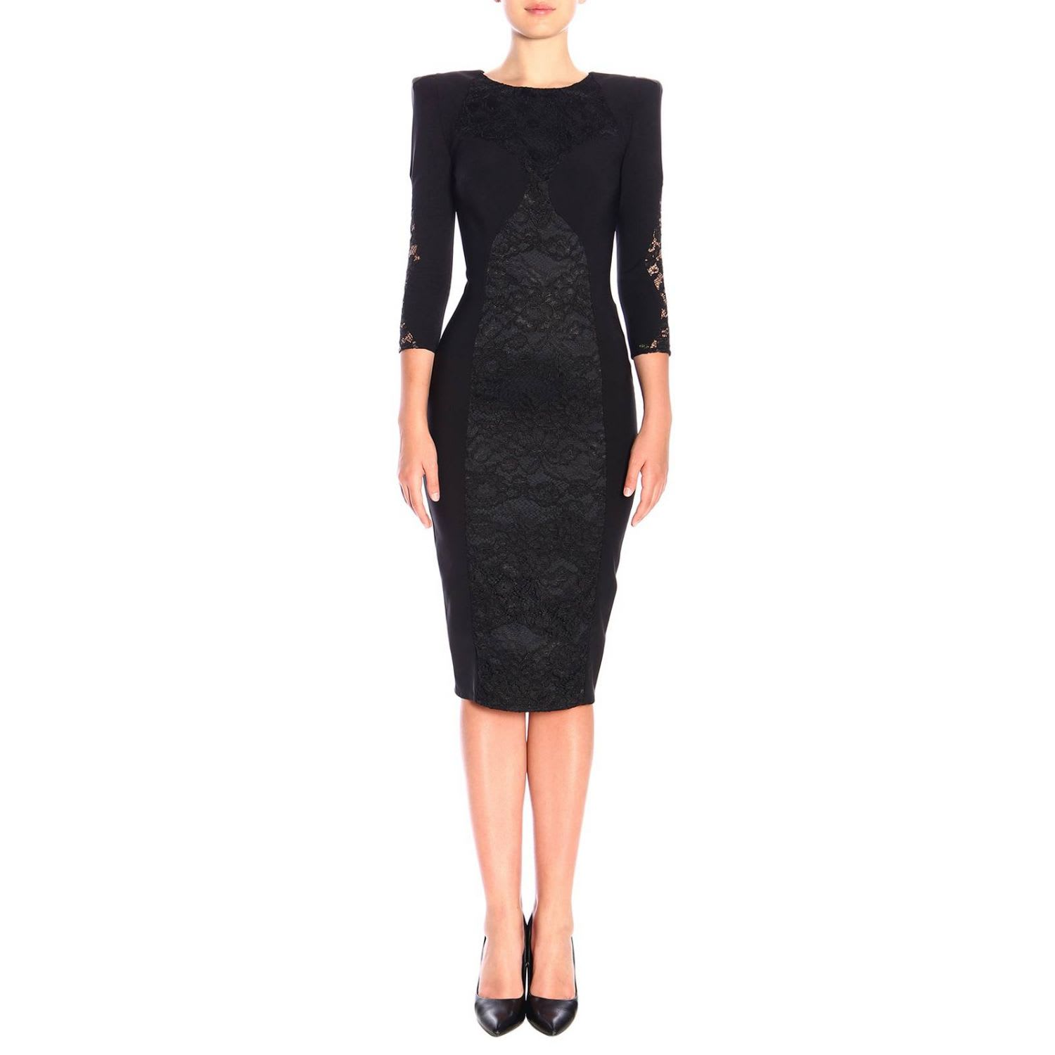 Elisabetta Franchi Dress Elisabetta Franchi Bielastic Dress With Lace Details