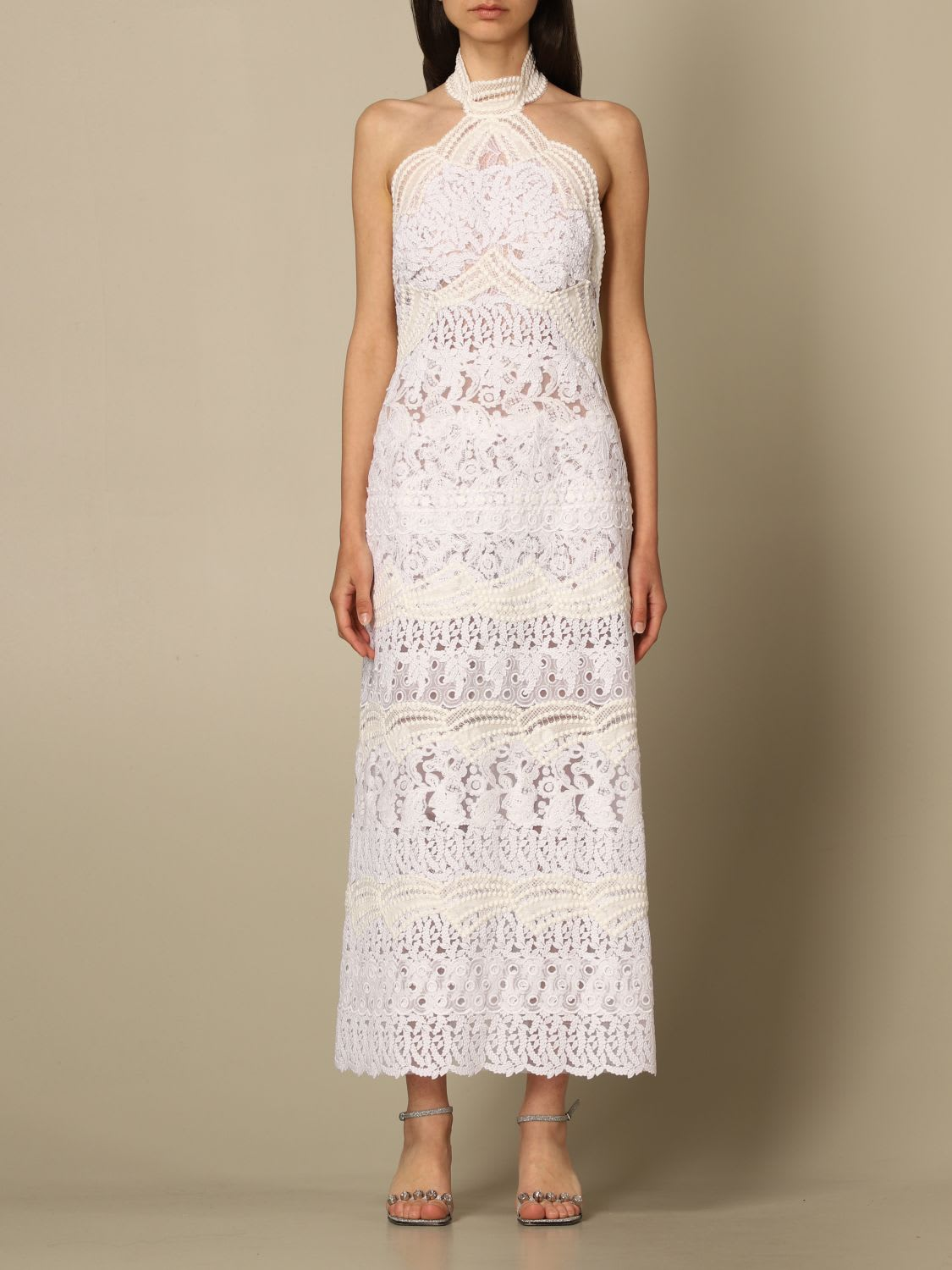 Ermanno Scervino Dress Ermanno Scervino Long Dress With Embroidery And Lace