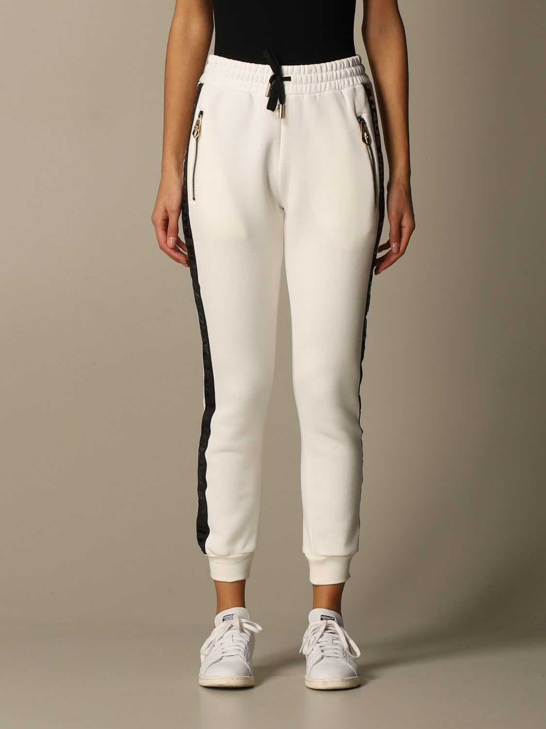 Paciotti 4us Pants Cotton Jogging Trousers With Zip