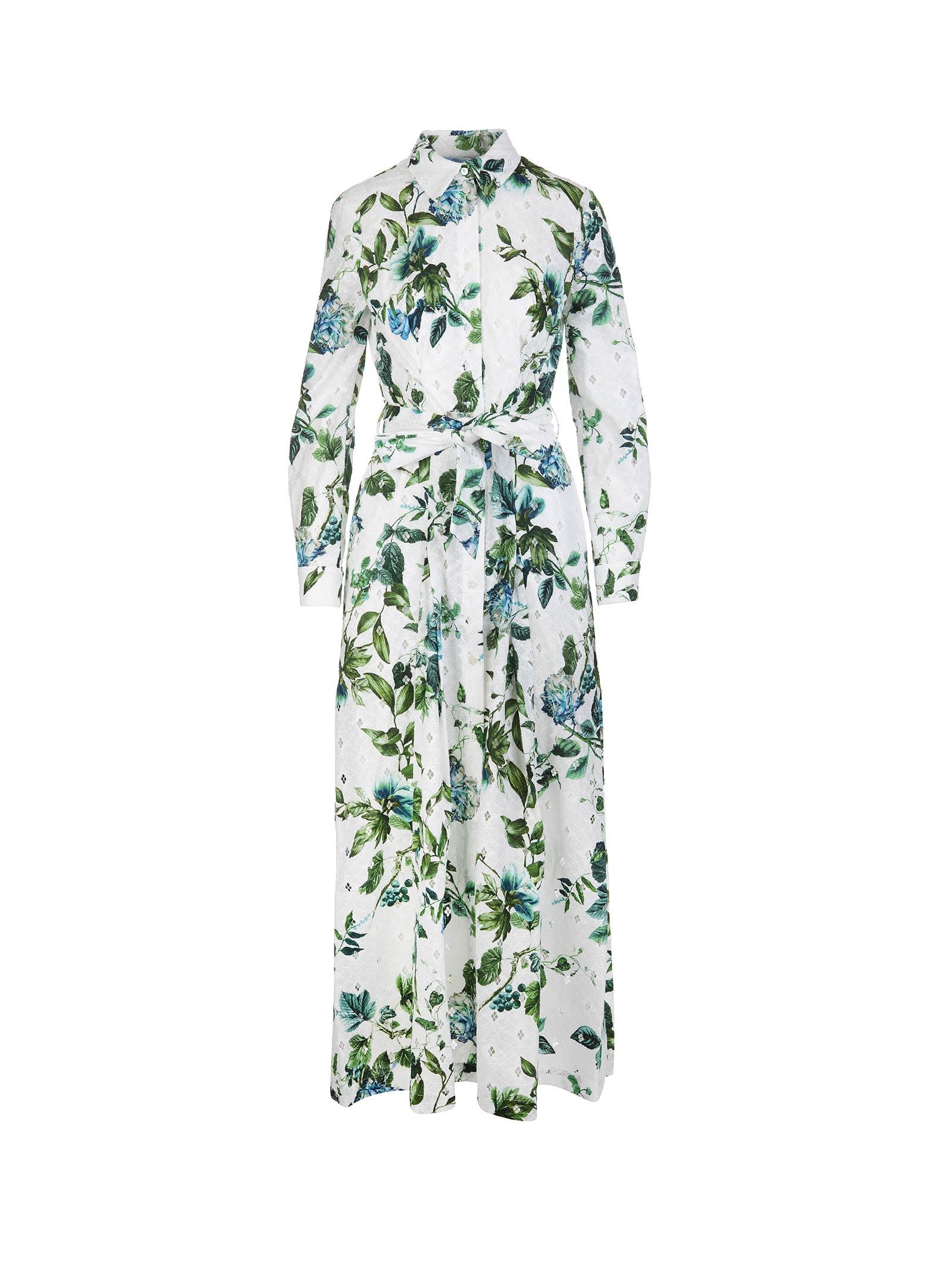 Buy Blumarine Blumarine Floral Print Maxi Dress online, shop Blumarine with free shipping