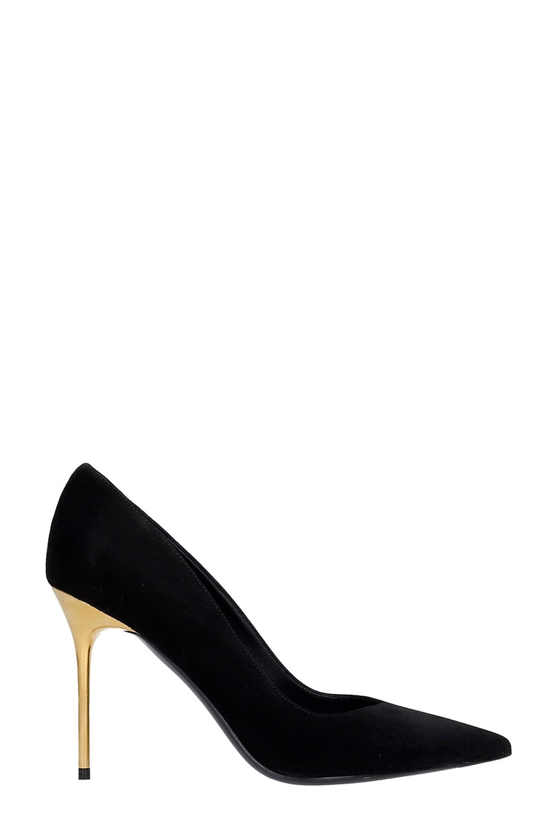 Balmain RUBY PUMPS IN BLACK SUEDE