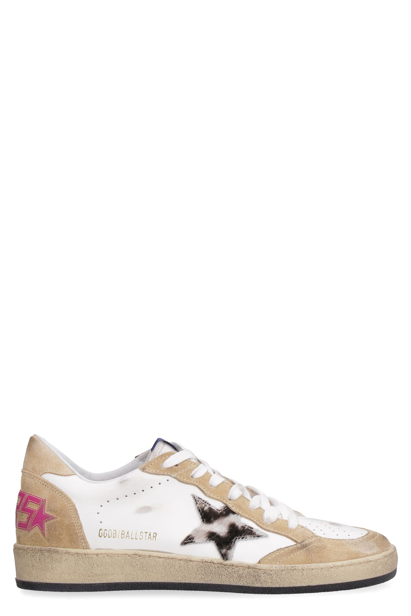 Buy Golden Goose Ball Star Leather Sneakers online, shop Golden Goose shoes with free shipping