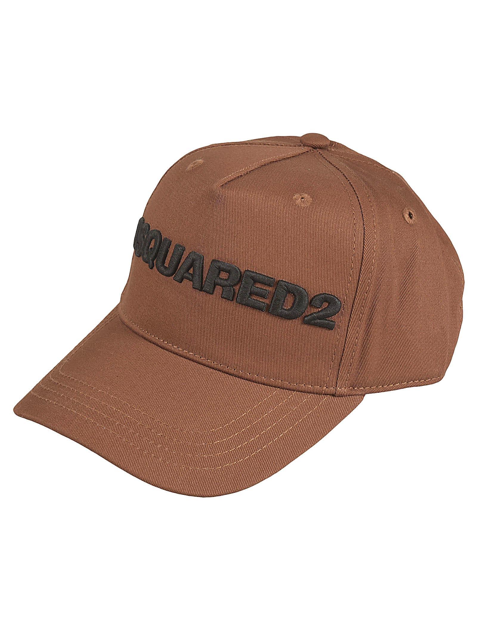 Dsquared2 Logo Cap In Brown
