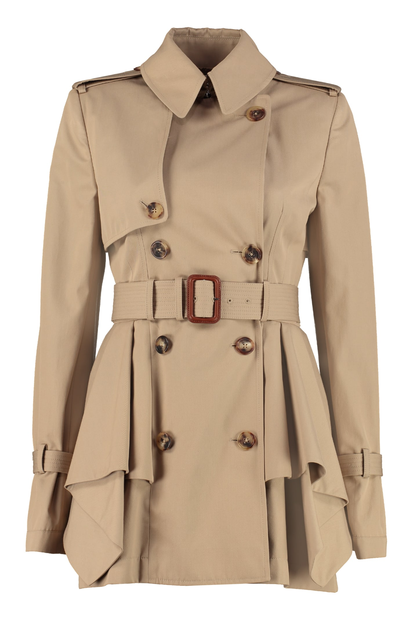 Alexander McQueen Short Cotton Trench Coat