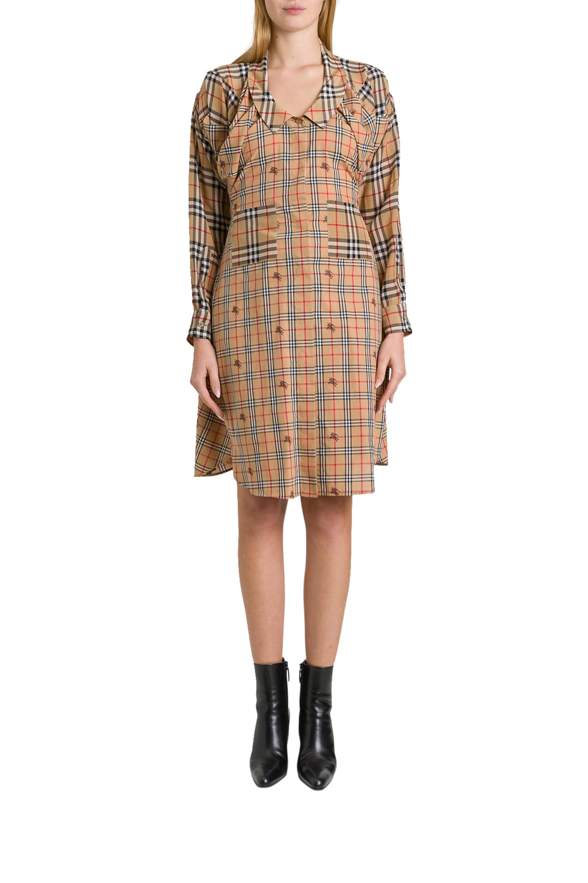Buy Burberry Shirt Dress online, shop Burberry with free shipping