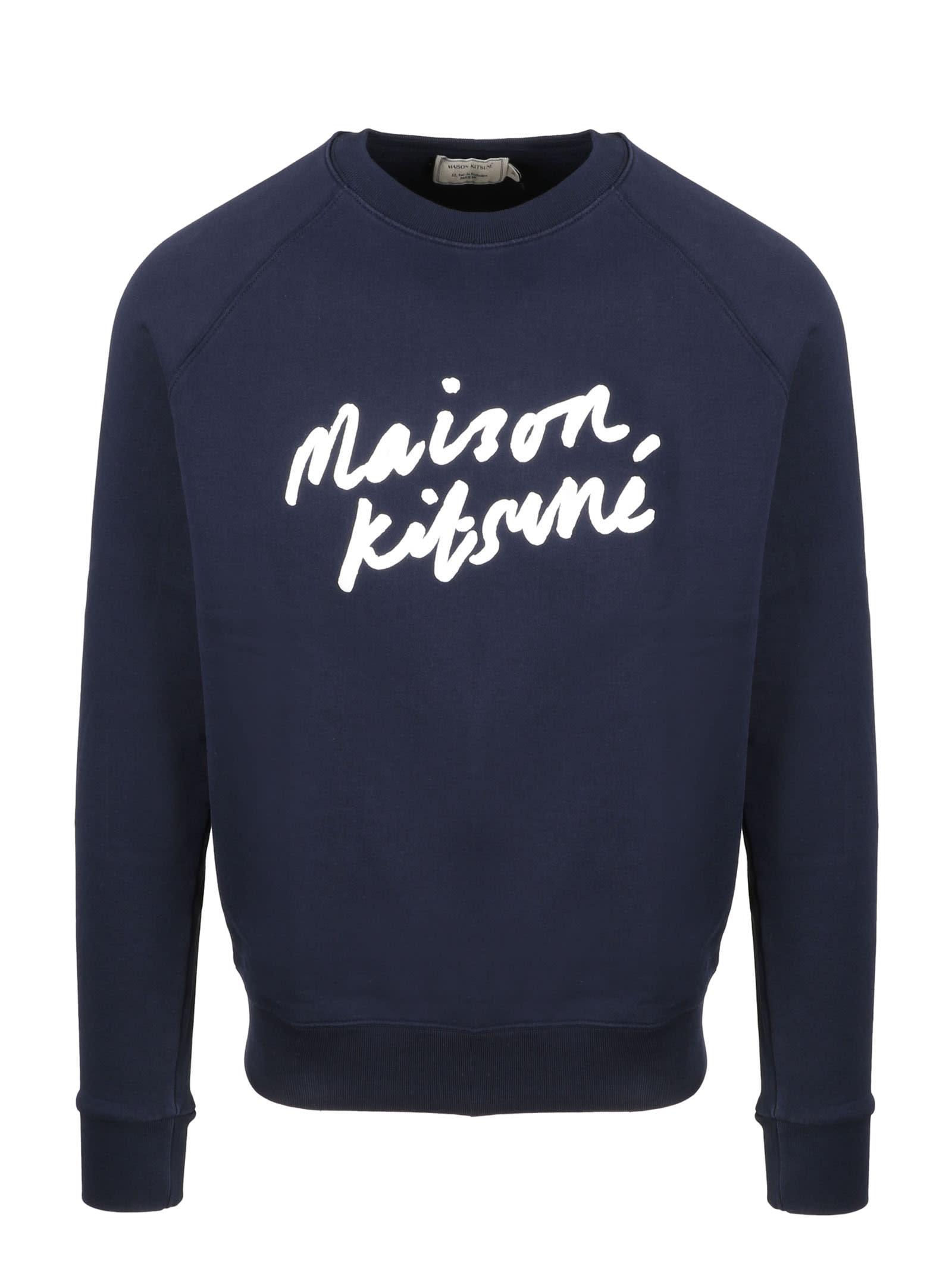 Maison Kitsuné Sweatshirts HANDWRTING CLEAN SWEATSHIRT