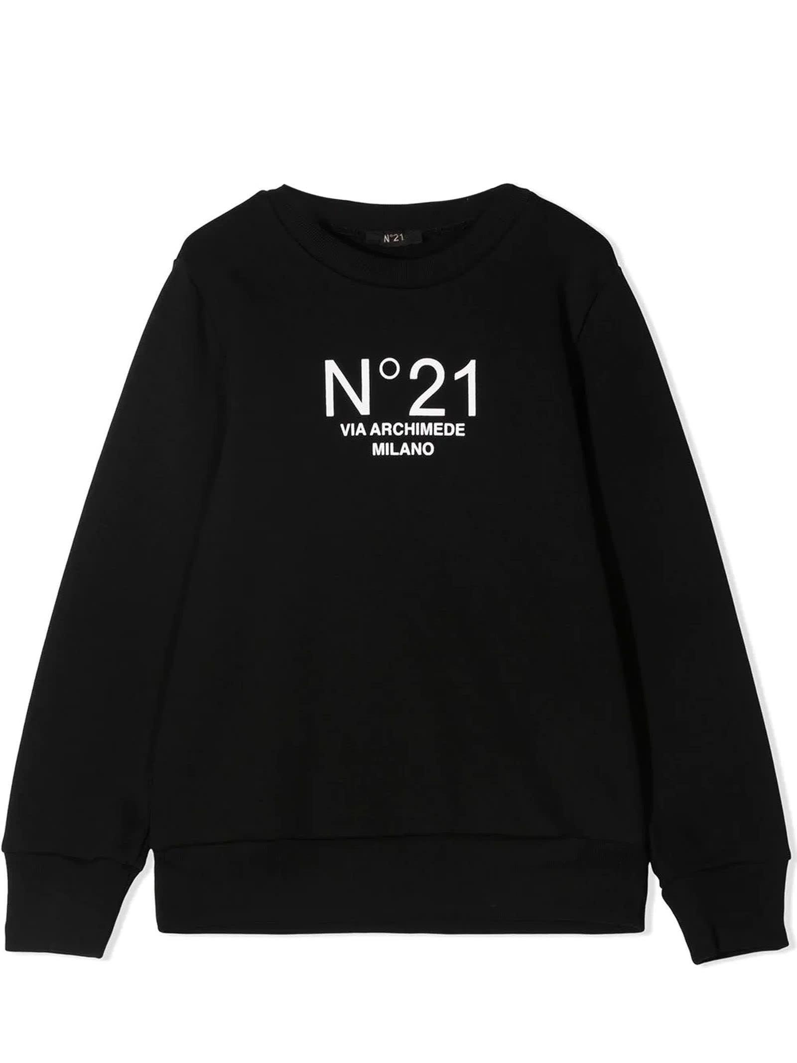 N.21 Black Cotton Sweatshirt