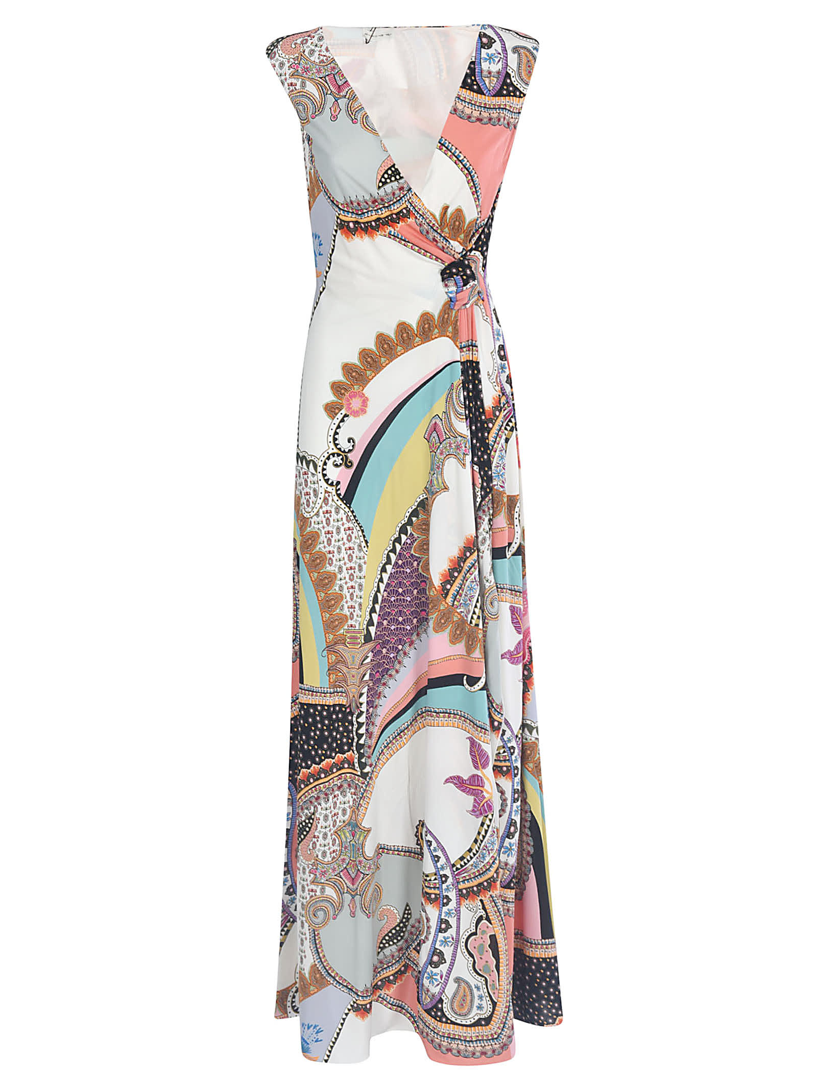 Buy Etro V-neck Printed Maxi Dress online, shop Etro with free shipping