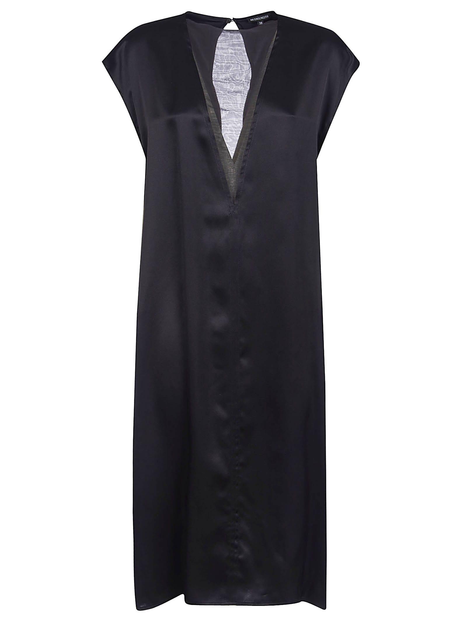 Buy Ann Demeulemeester V-neck Sleeveless Maxi Dress online, shop Ann Demeulemeester with free shipping