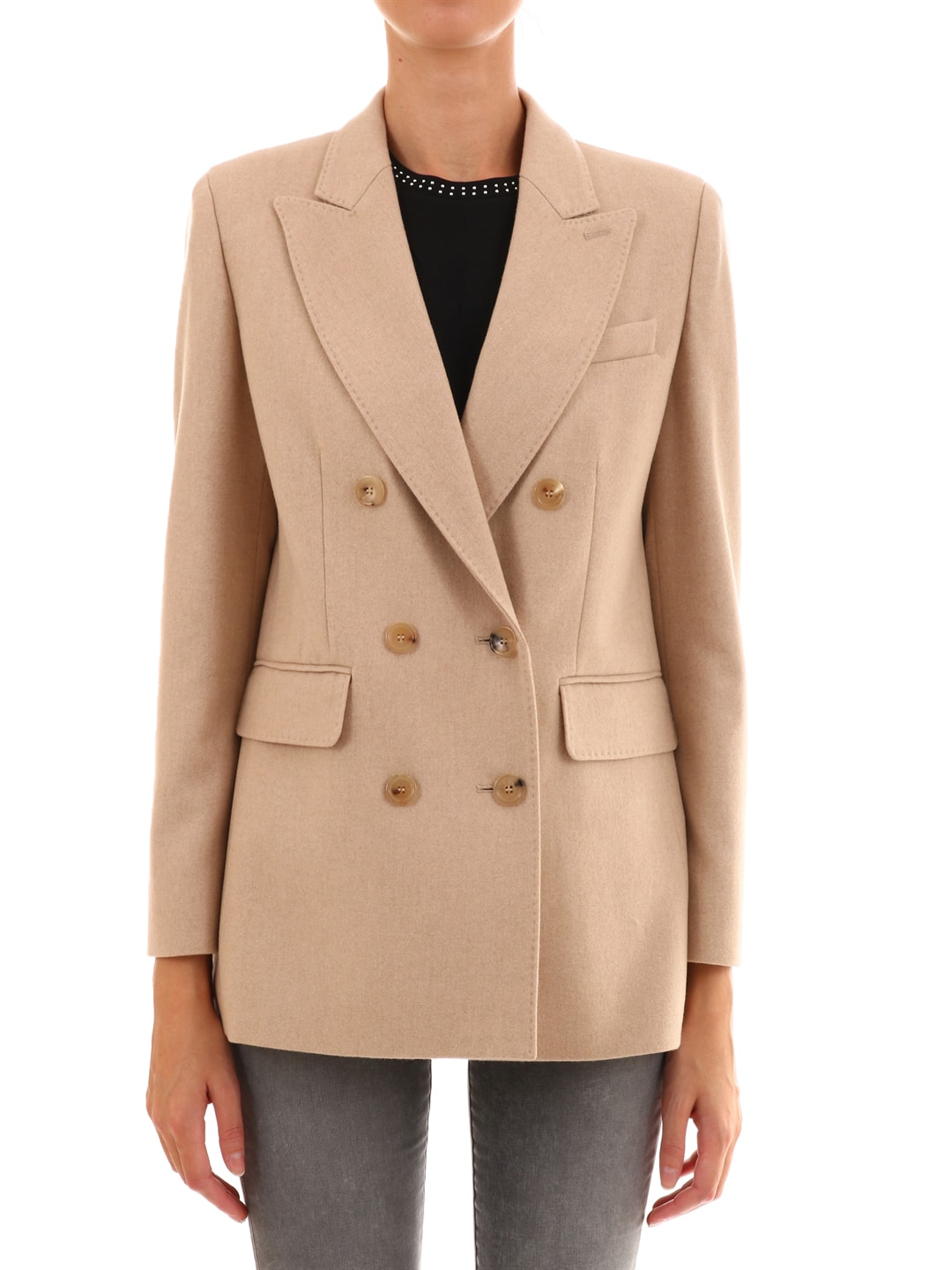 Max Mara Blazer In Camel And Flannel