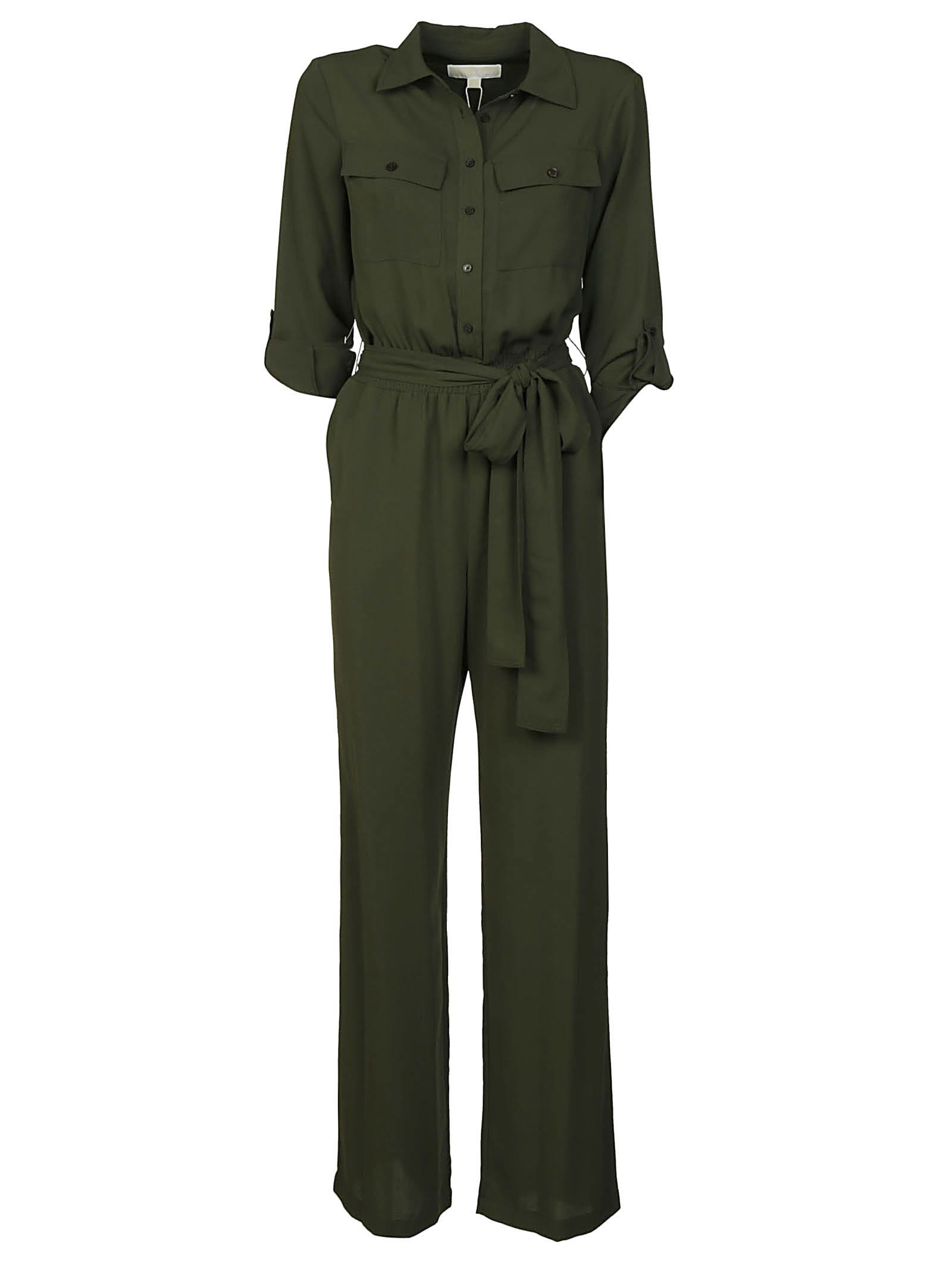 Buy Michael Kors Tie-waist Buttoned Dress online, shop Michael Kors with free shipping