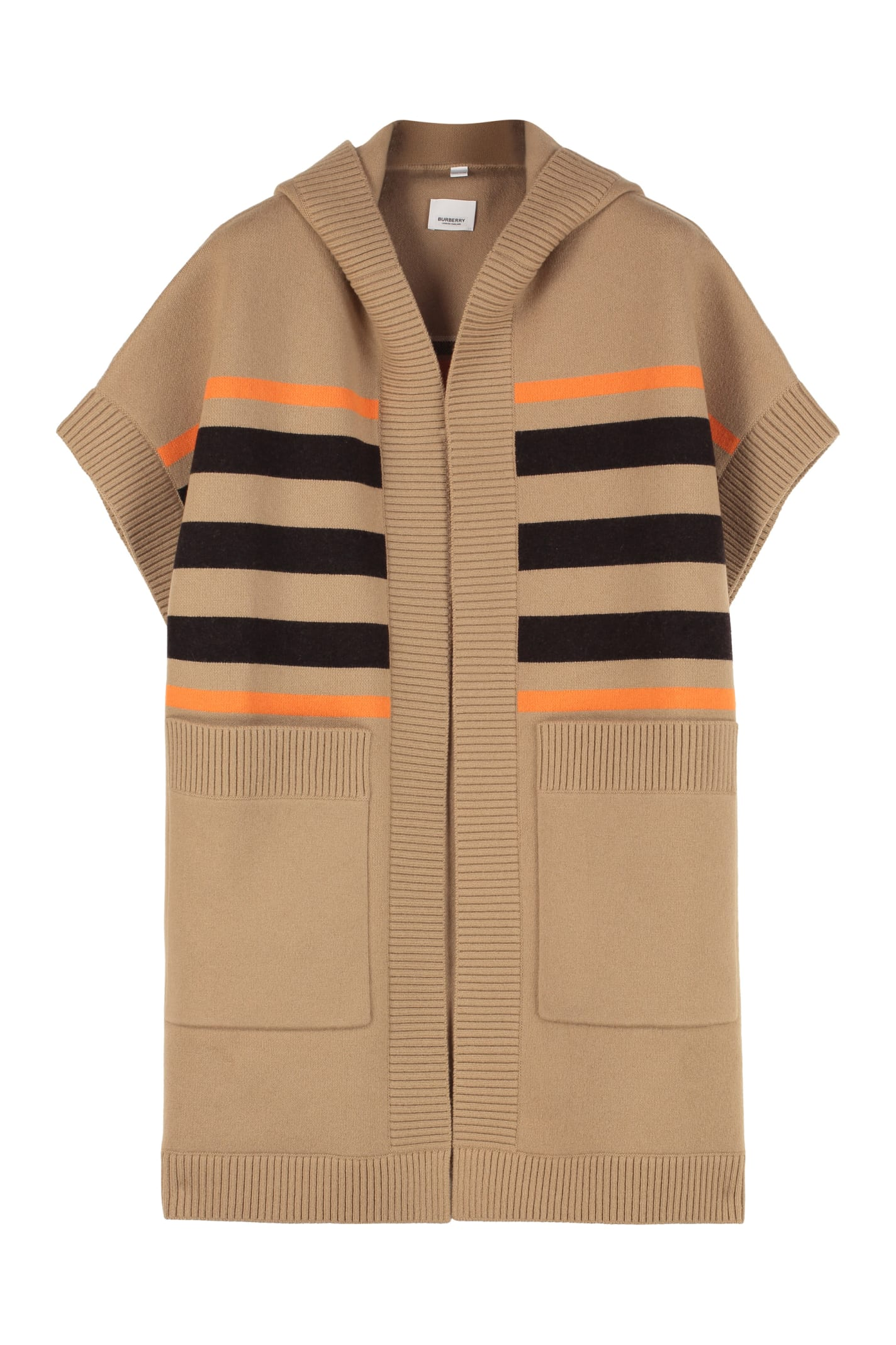 Photo of  Burberry Knitted Cashmere And Wool Cape Coat- shop Burberry jackets online sales