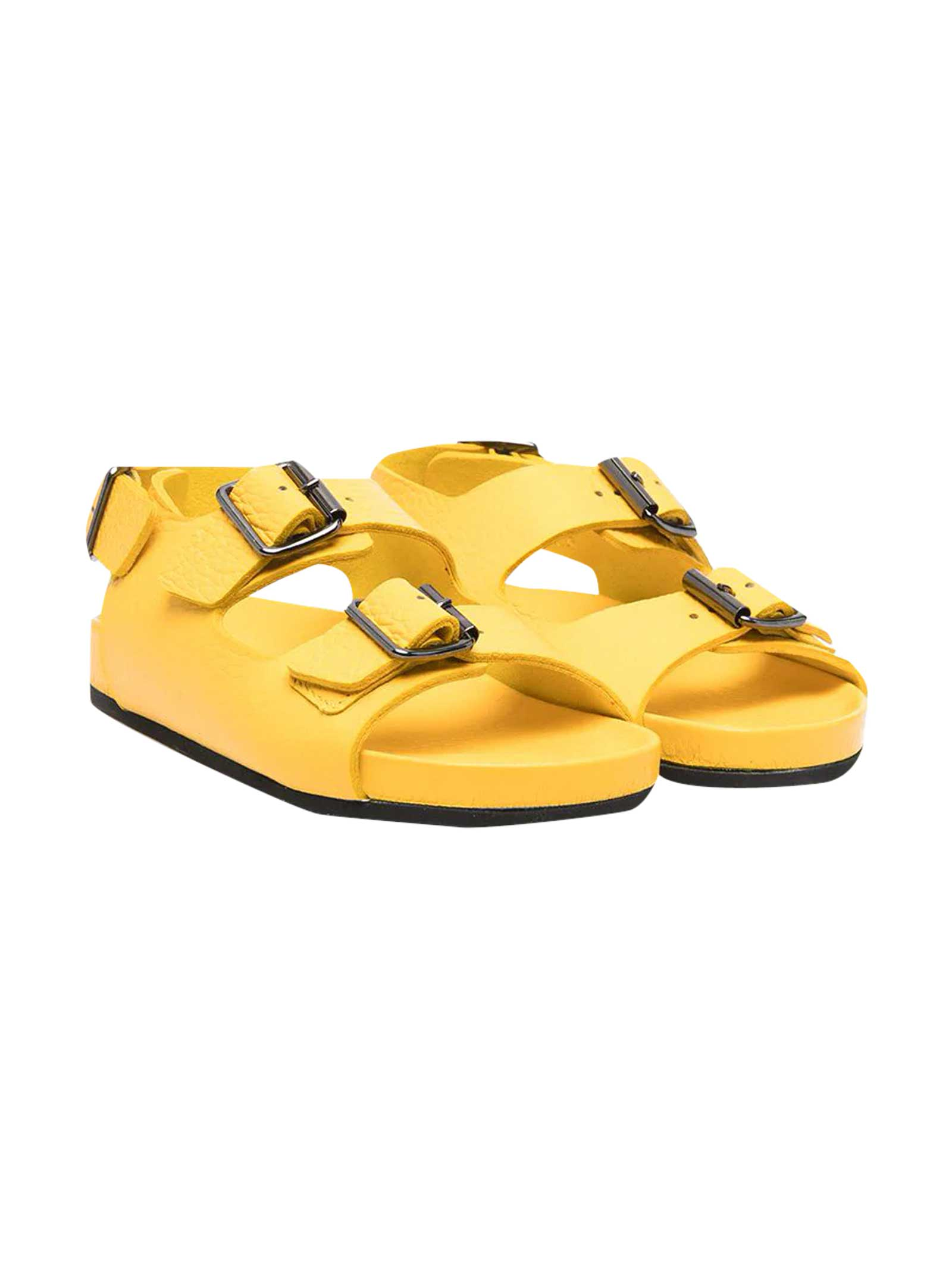 Sandals With Yellow Buckle