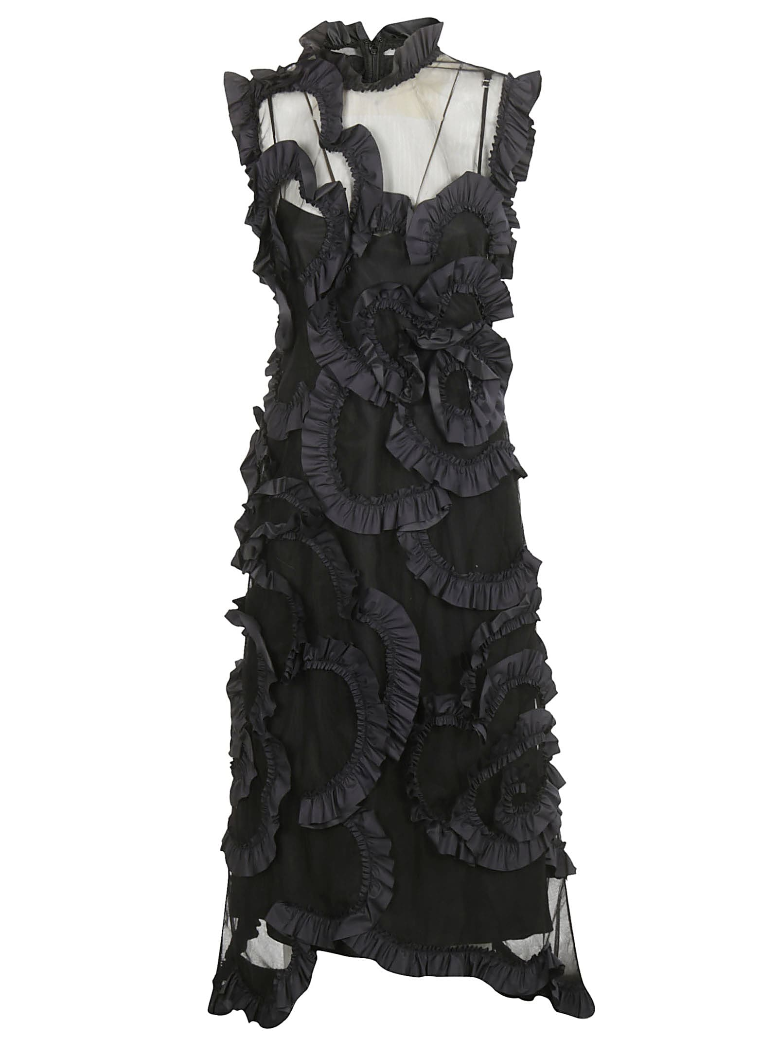 Moncler Ruffle Applique Dress