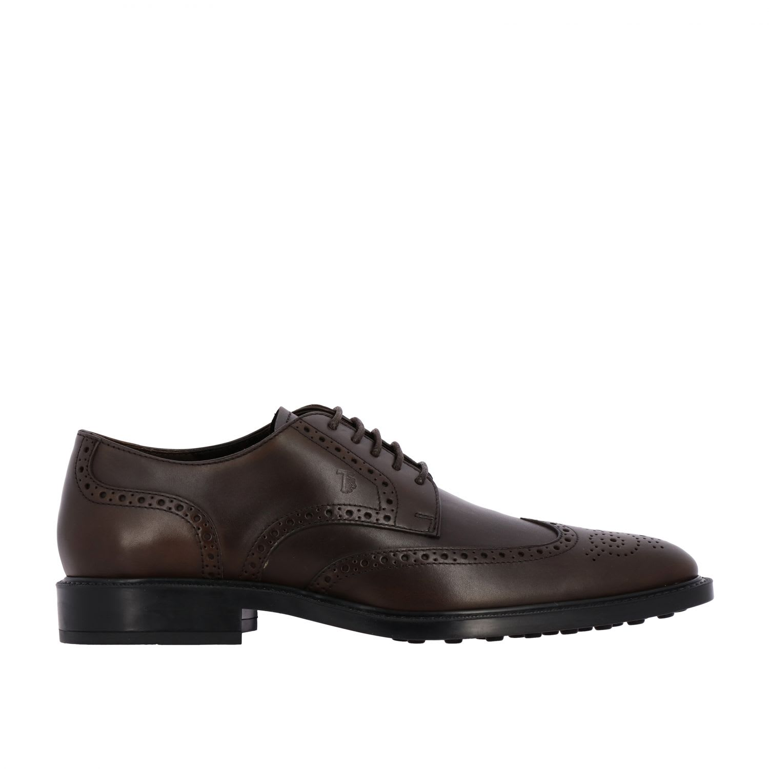 Brogue Shoes Tods Derby In Leather With Dovetail Brogue MotifComposition: 100% Calfskin
