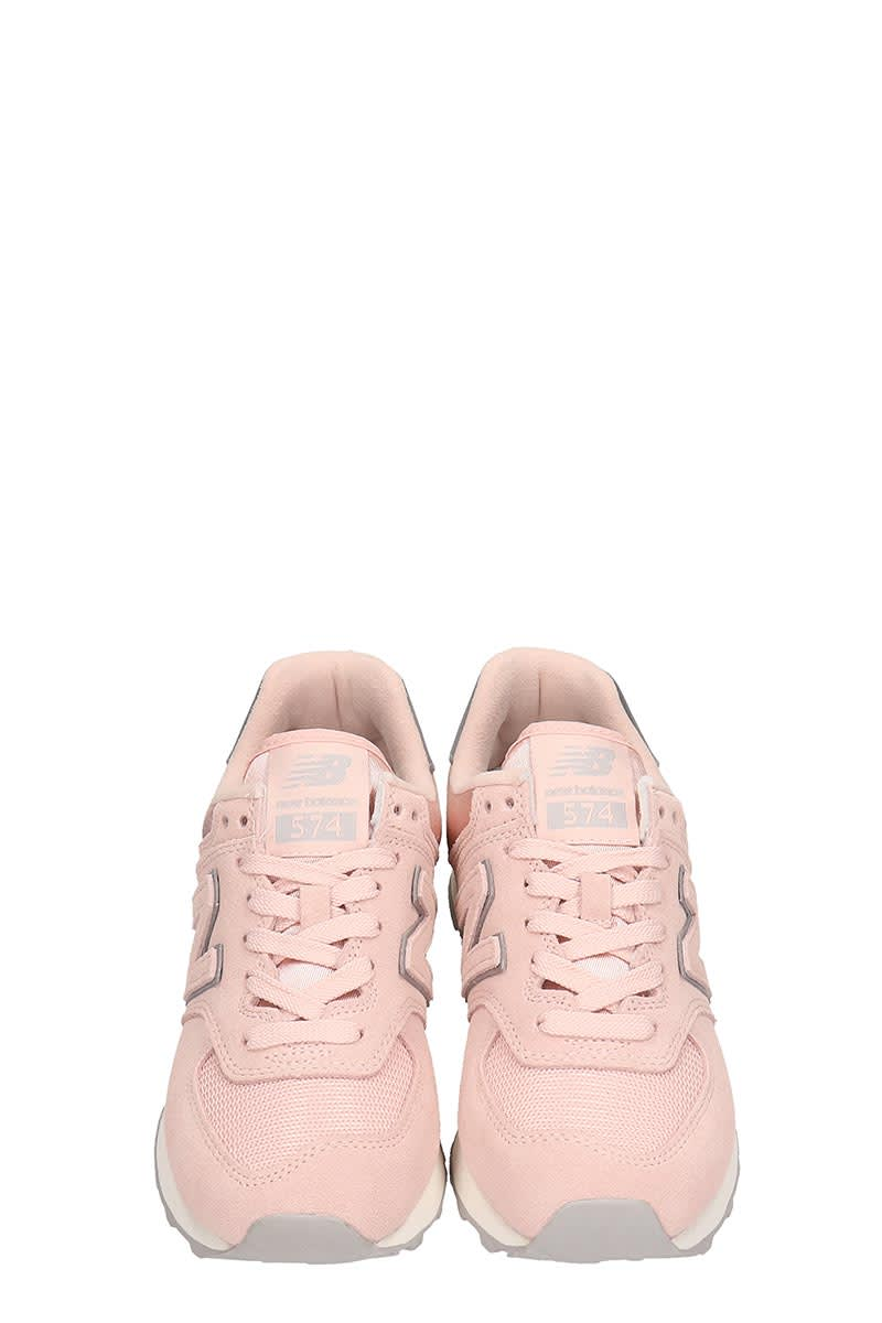 09d76b8858fb9 New Balance New Balance Pink Suede And Fabric 574 Sneakers - rose ...