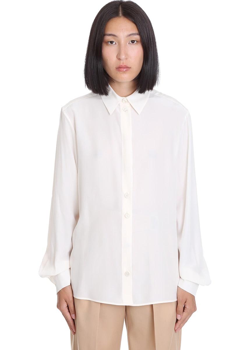 Jil Sander Nicki Shirt In White Silk