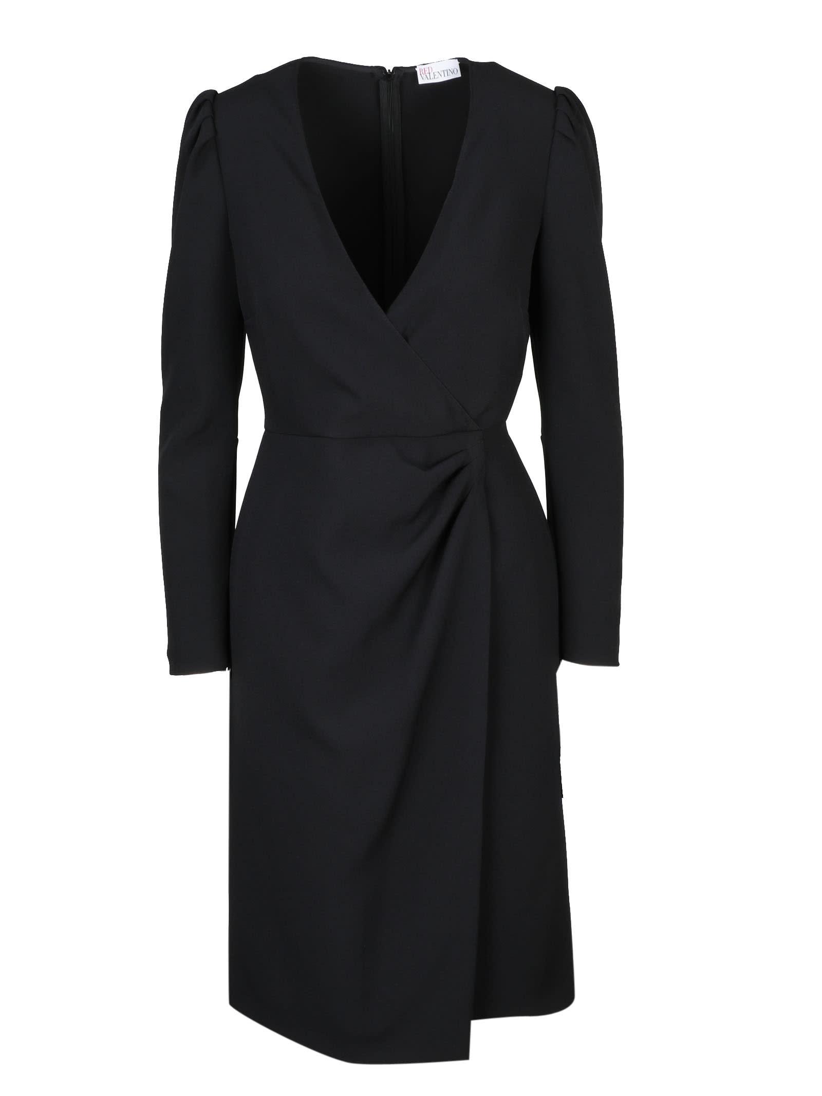 RED Valentino Crepe Stretch Longuette Dress