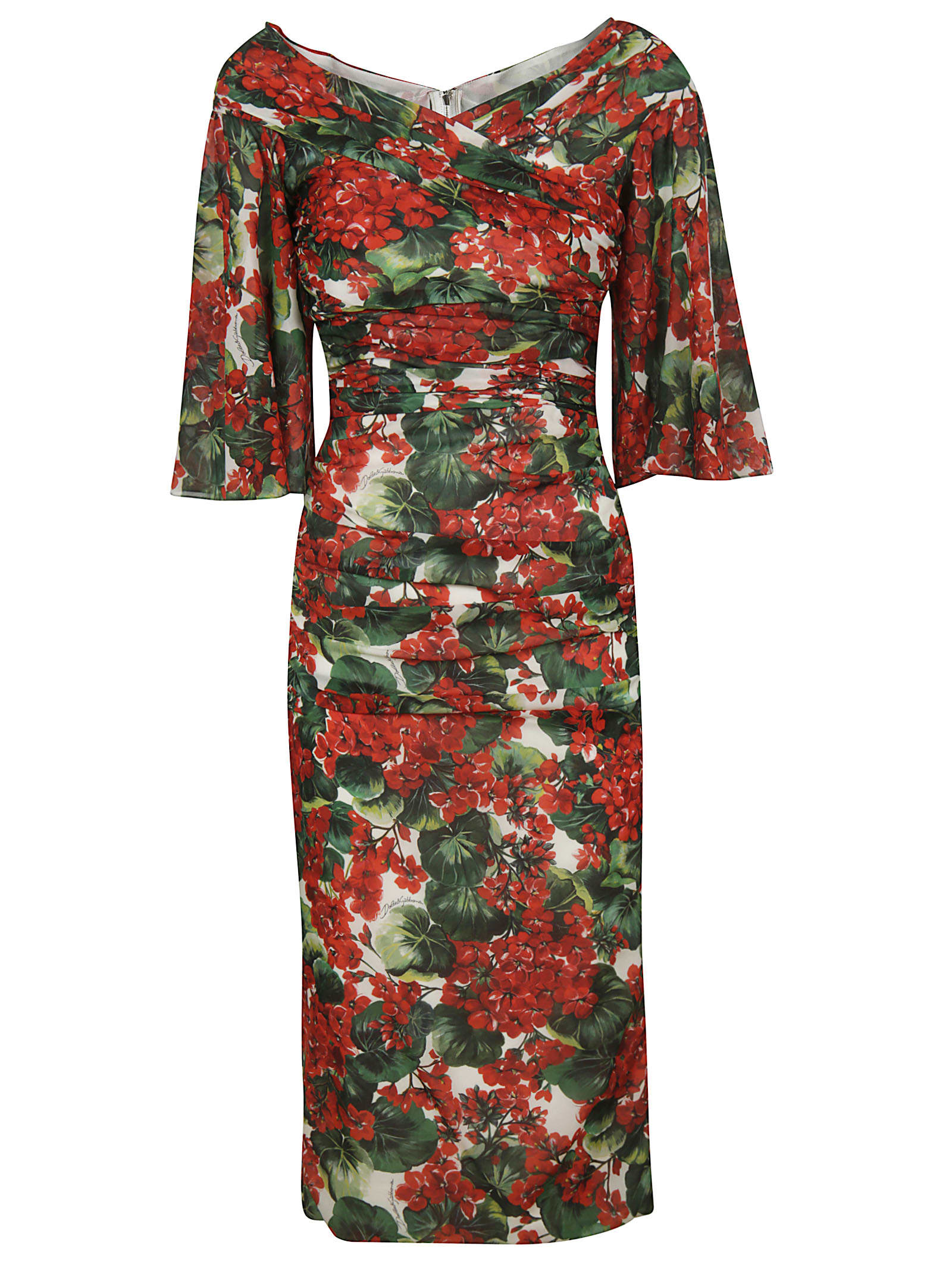 Buy Dolce & Gabbana Floral Print Dress online, shop Dolce & Gabbana with free shipping