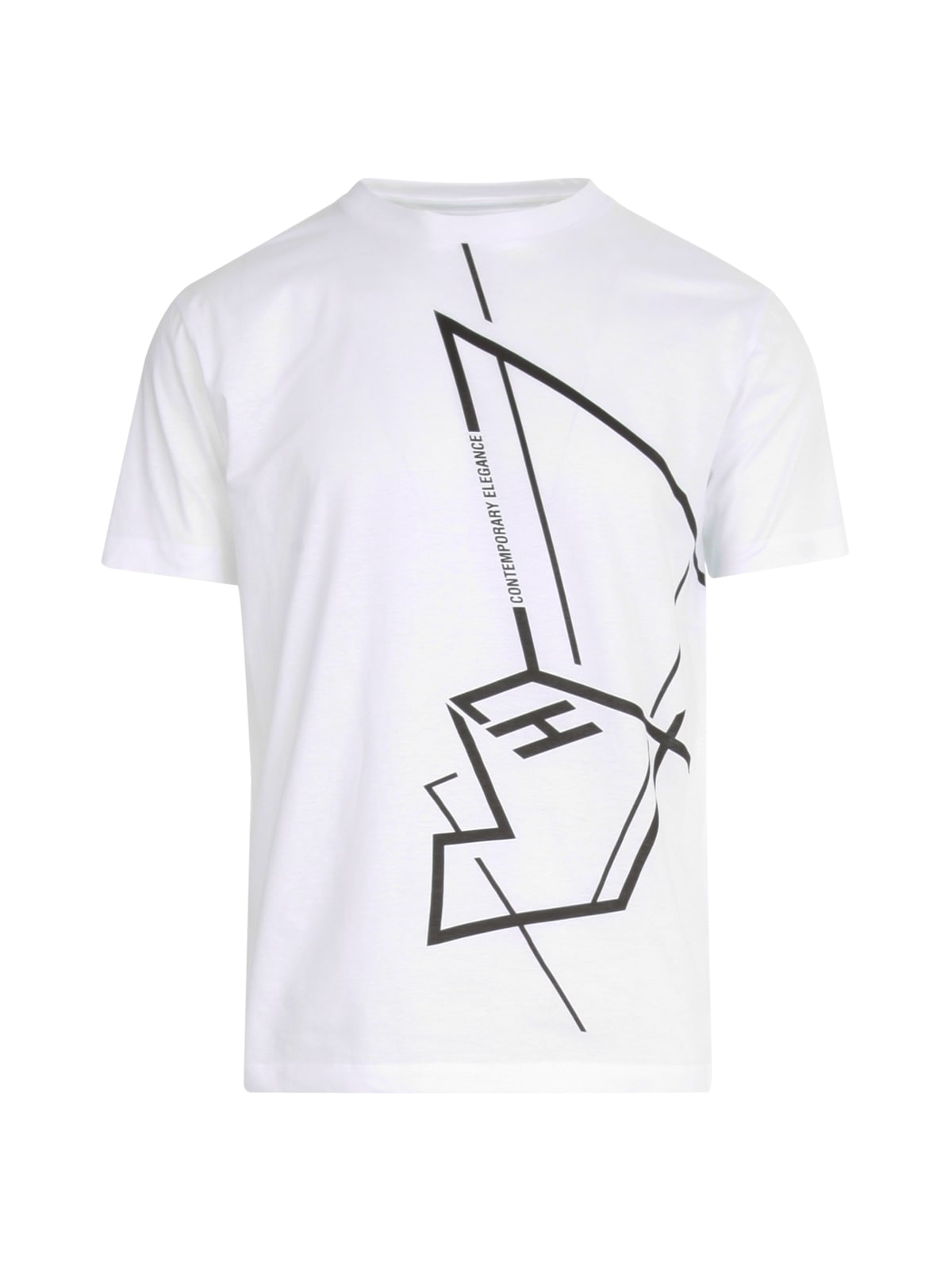 Les Hommes REGULAR T-SHIRT W/GRAPHIC PRINT ON FRONT