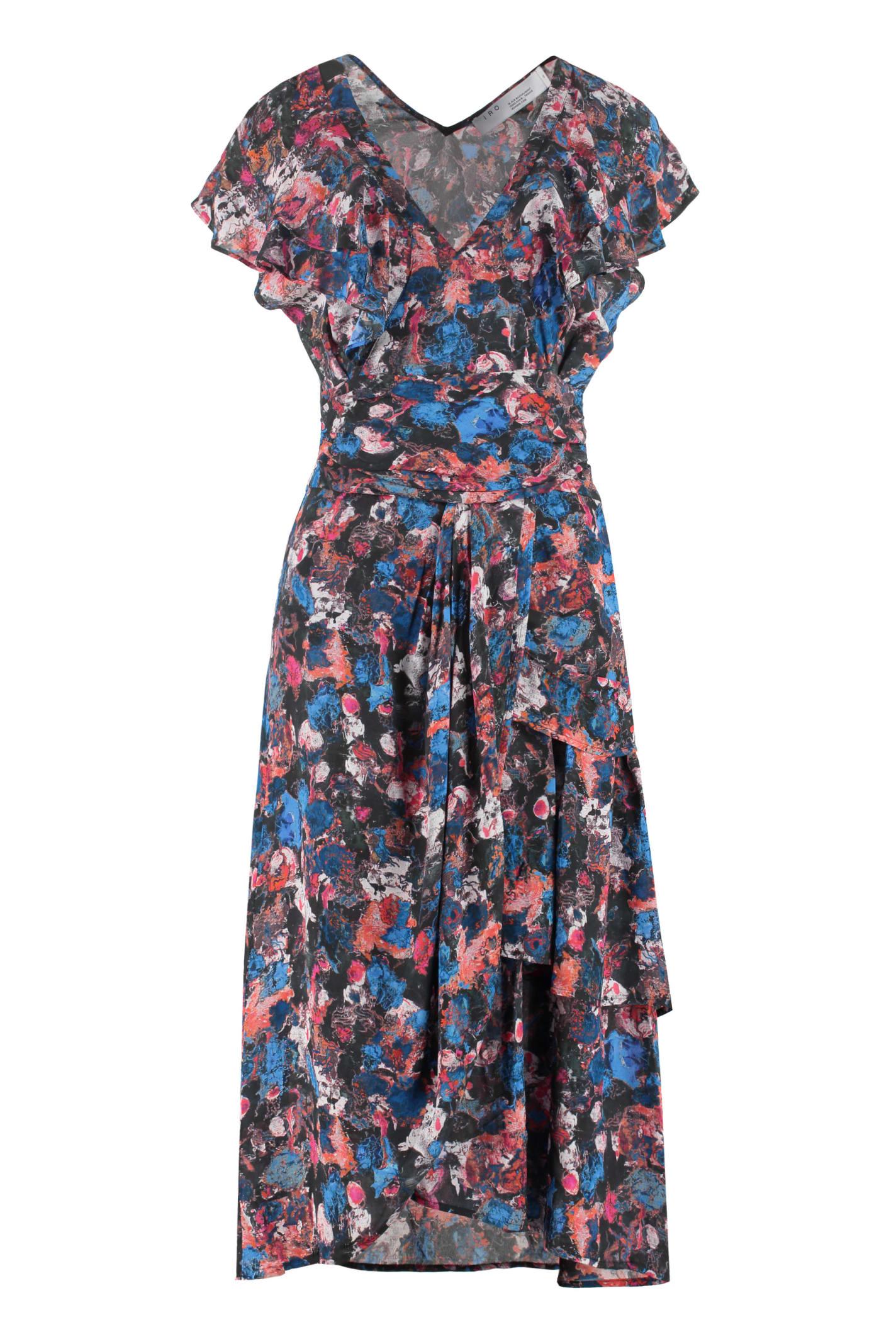 Buy IRO Plisca Printed Viscose Dress online, shop IRO with free shipping