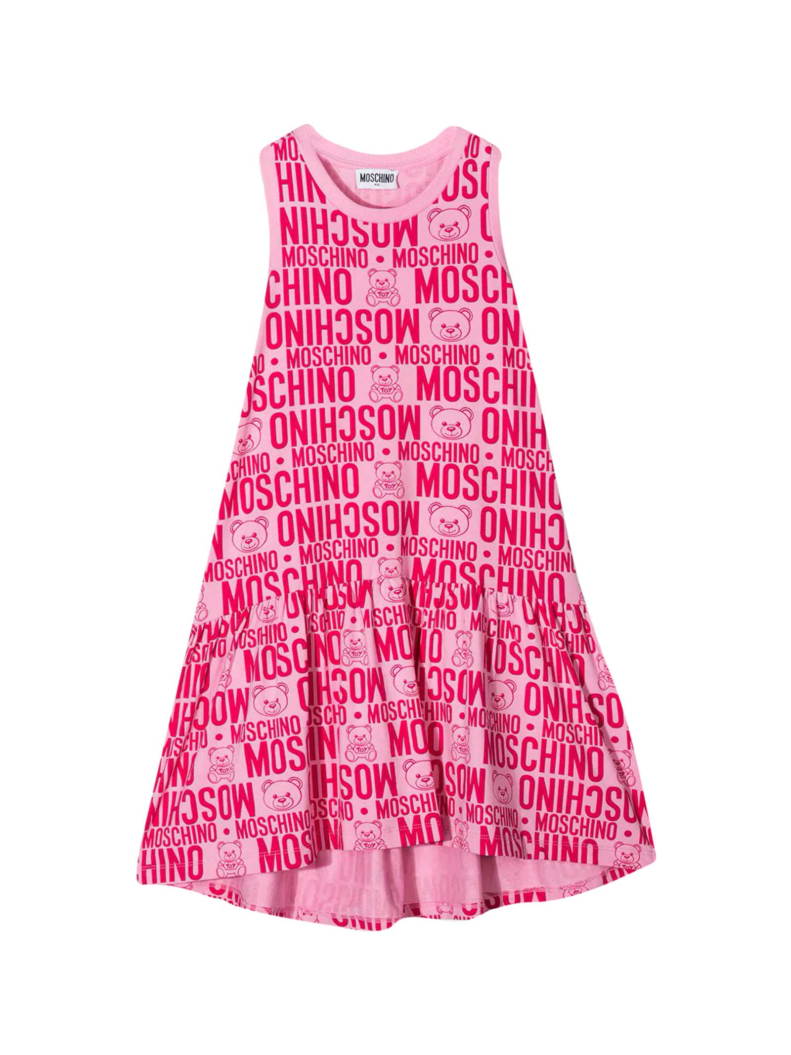 Buy Moschino Pink Teen Dress online, shop Moschino with free shipping