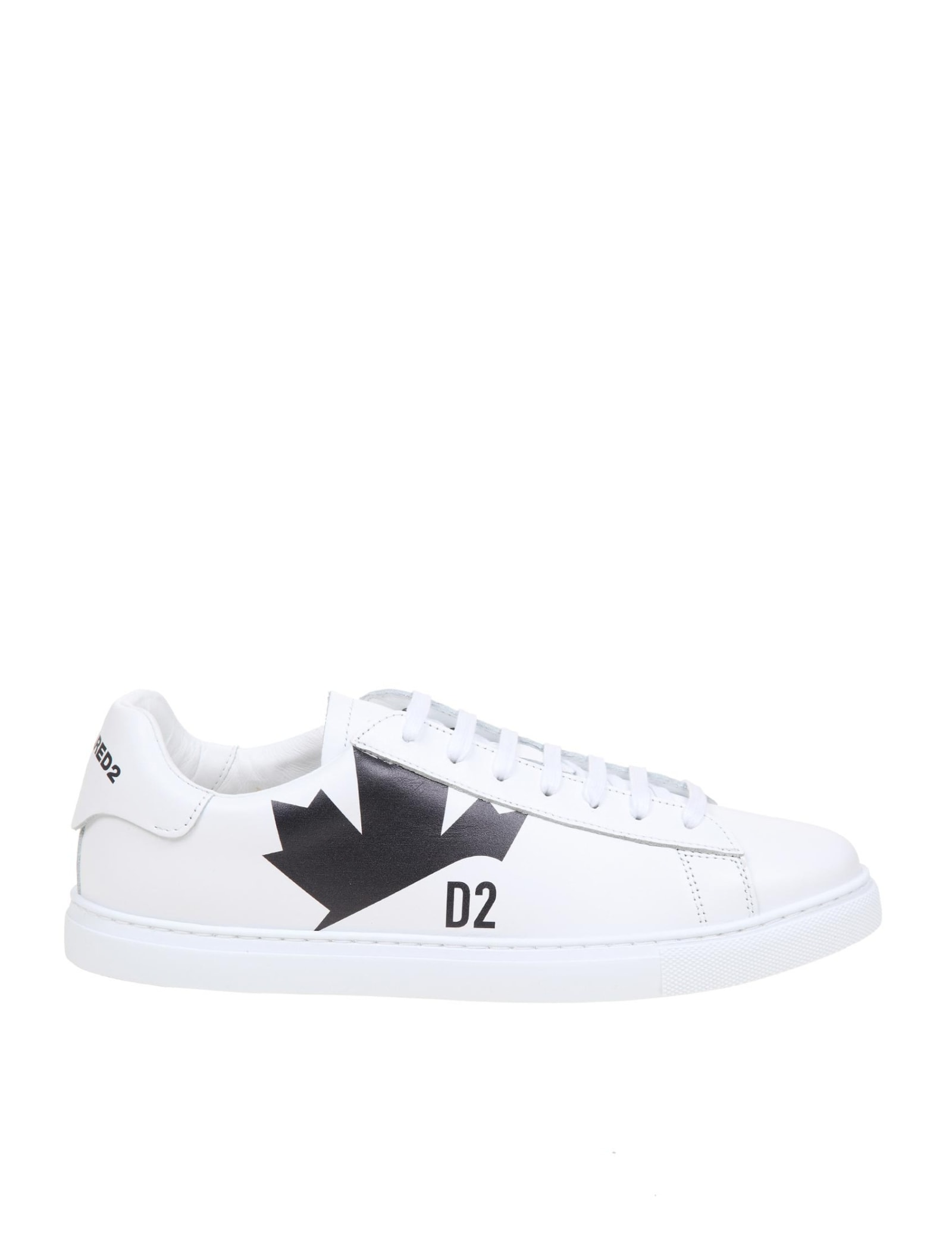 Dsquared2 NEW TENNIS SNEAKERS IN WHITE LEATHER