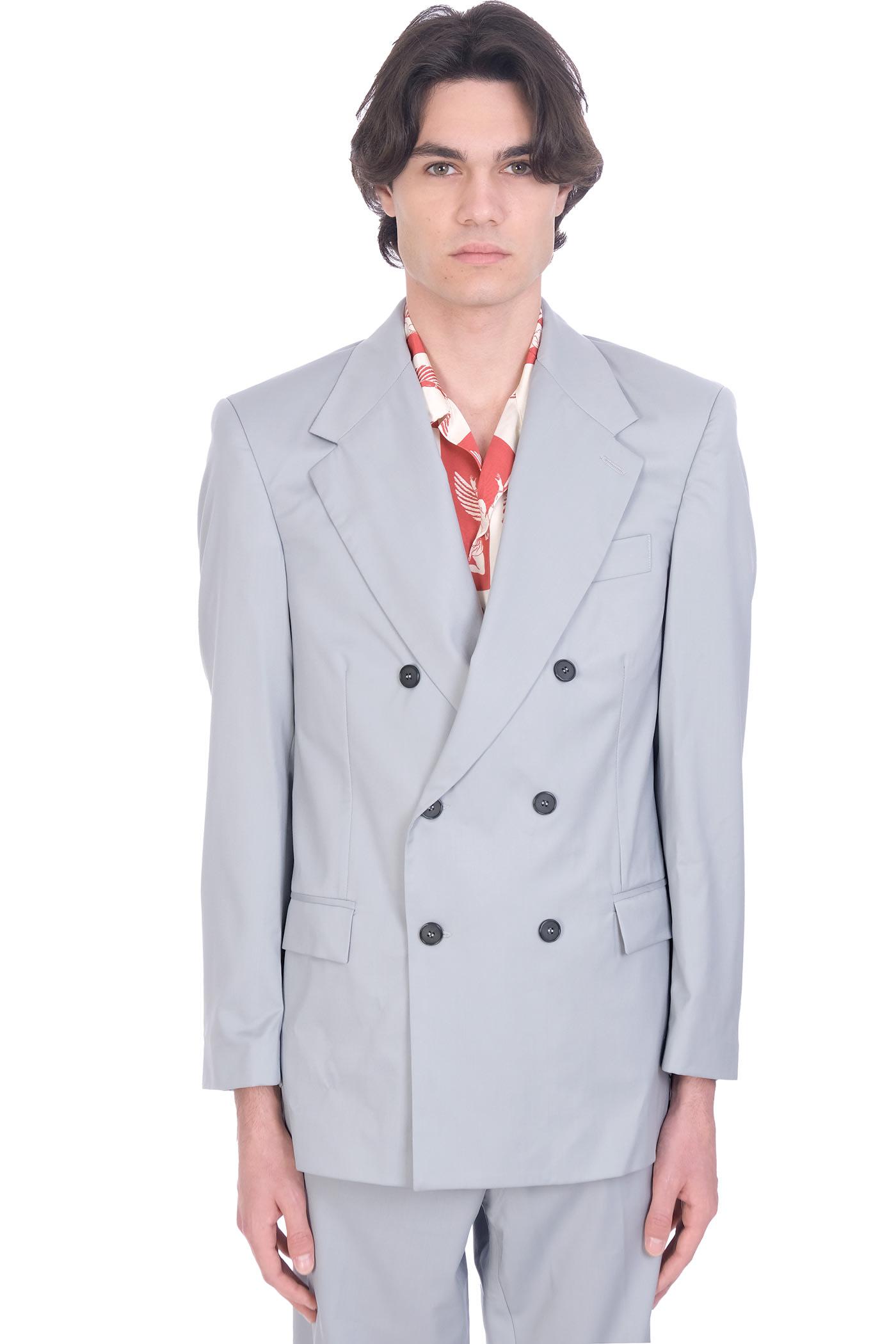 Thom Jacket In Grey Wool