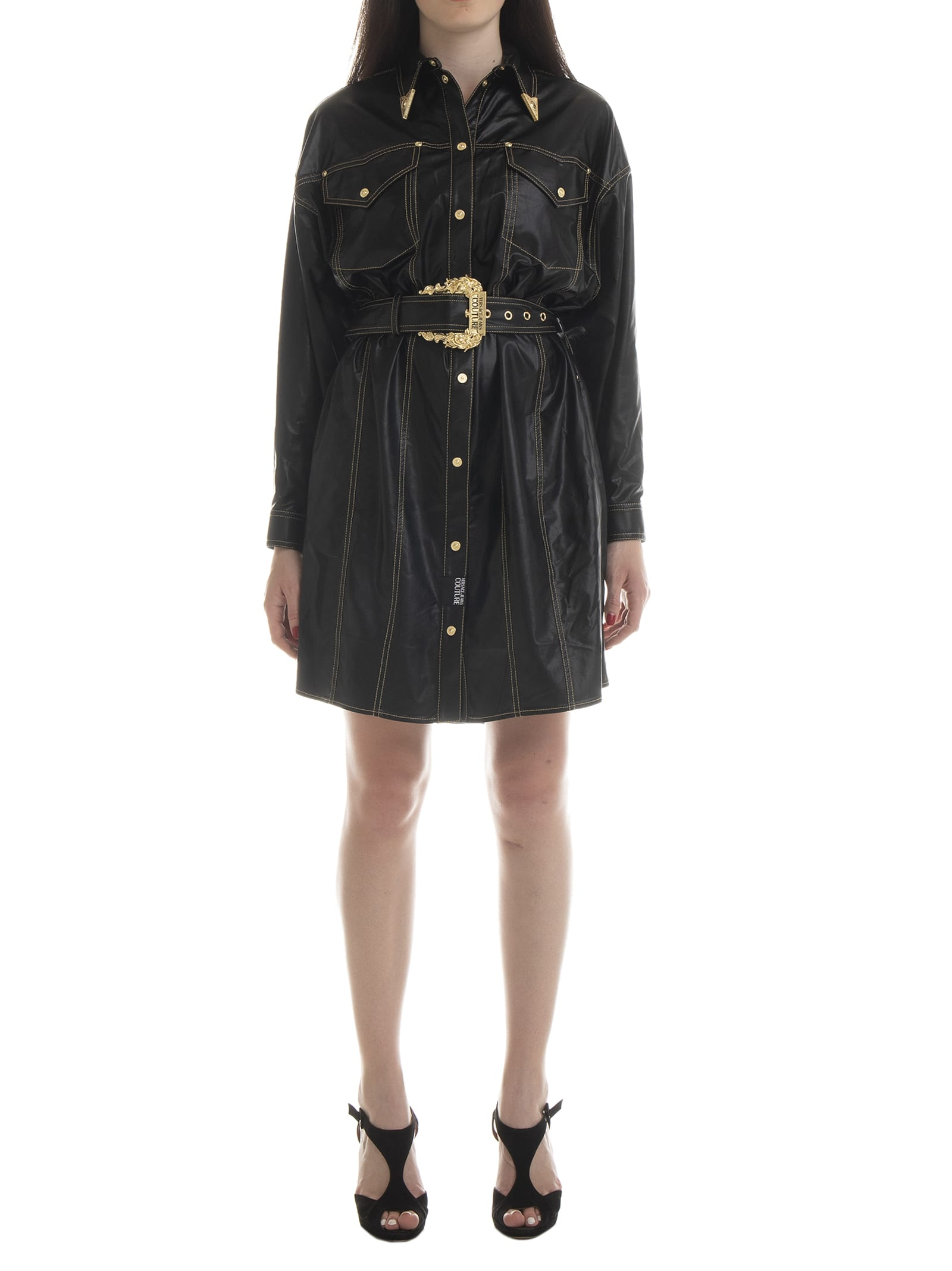 Versace Jeans Couture Cowboy Shirt Dress
