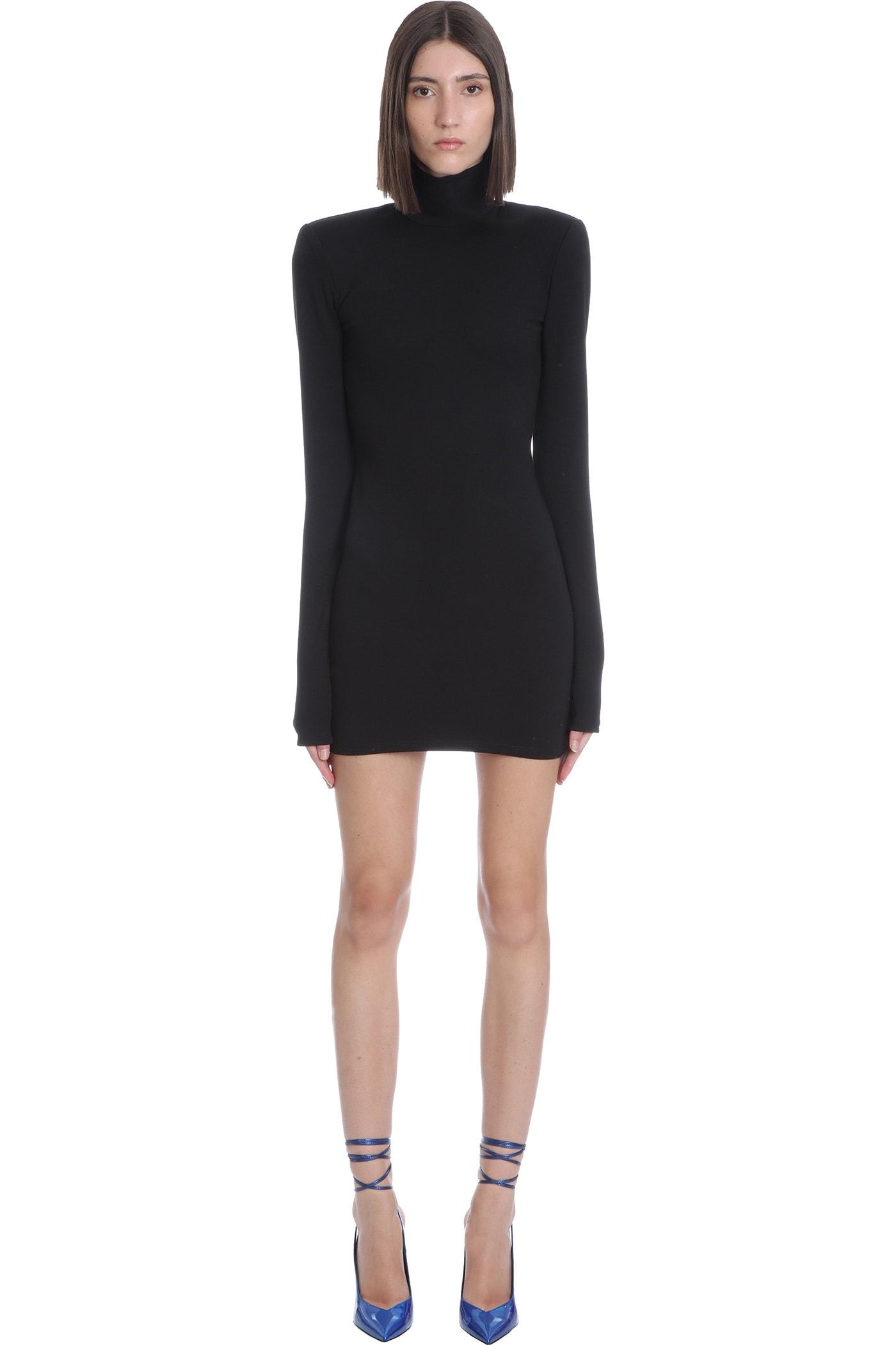 Hilda Mini Dress In Black Viscose