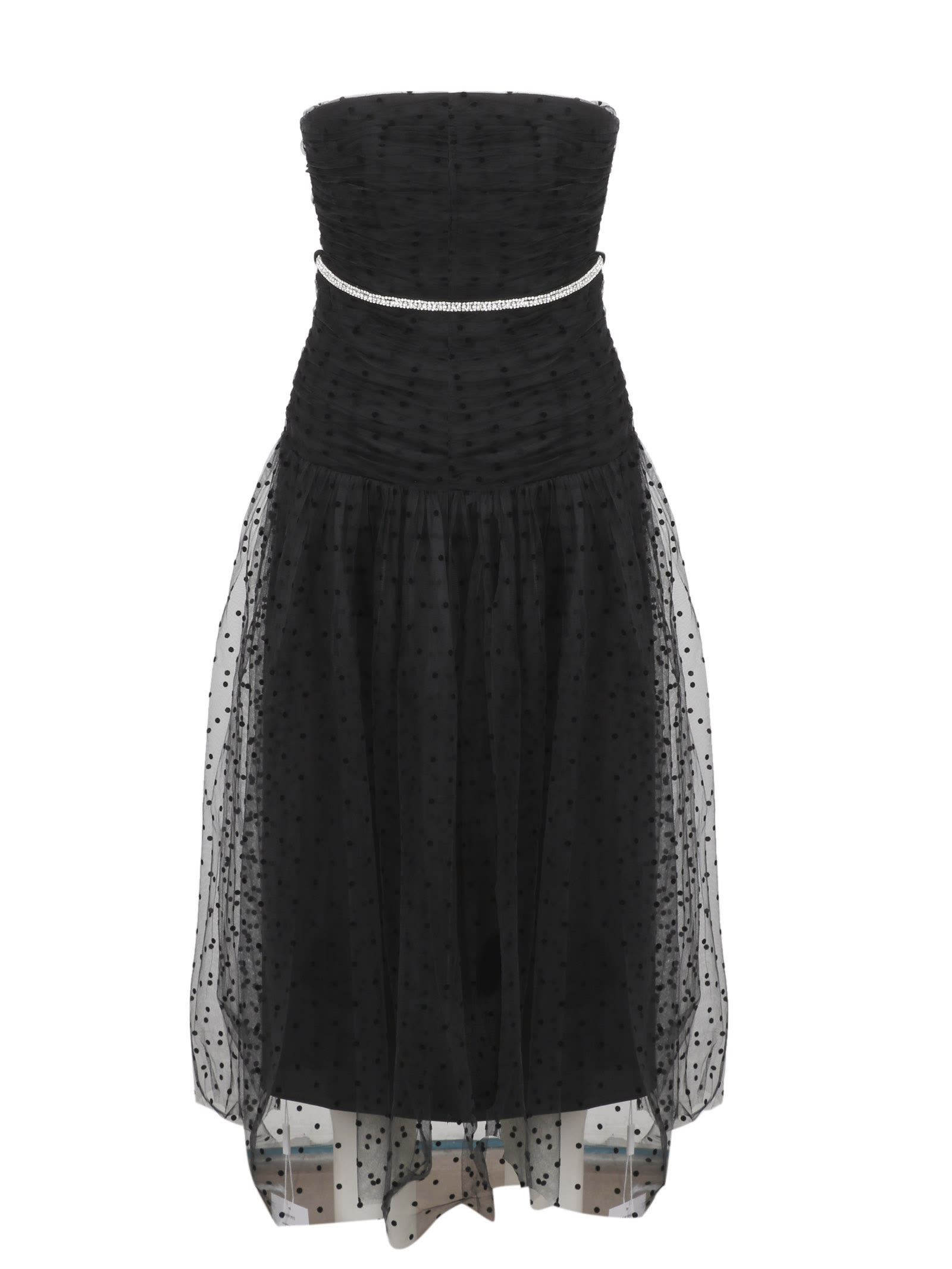 Buy self-portrait Strapless Dot Mesh Midi Dress online, shop self-portrait with free shipping