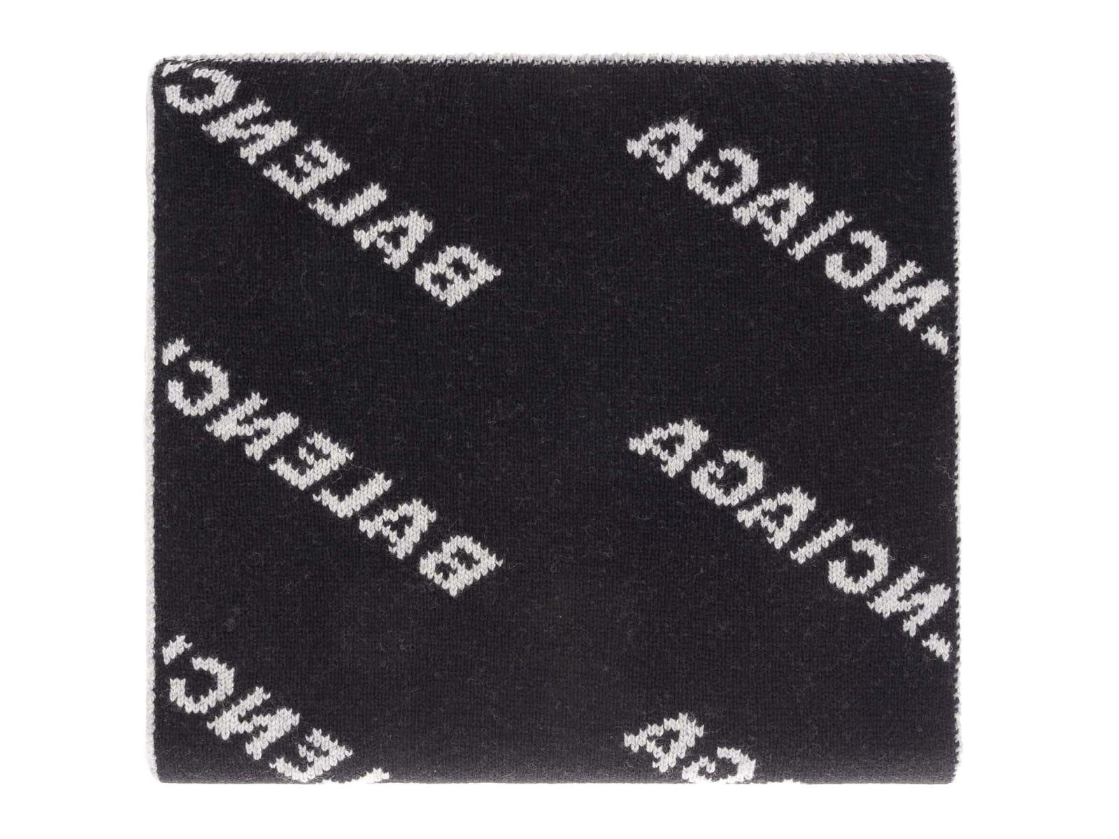 5f07d0f10 Balenciaga Logo Knit Scarf