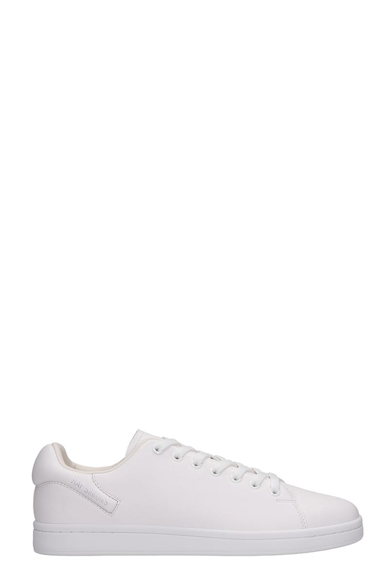 Raf Simons Orion Sneakers In White Leather