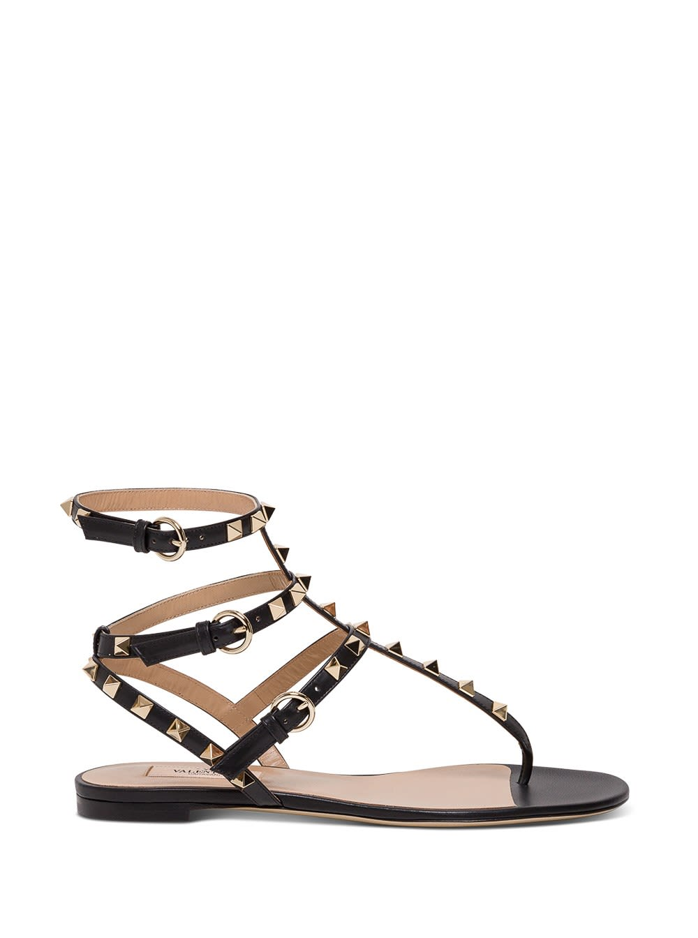 VALENTINO ROCKSTUD SANDALS IN LEATHER