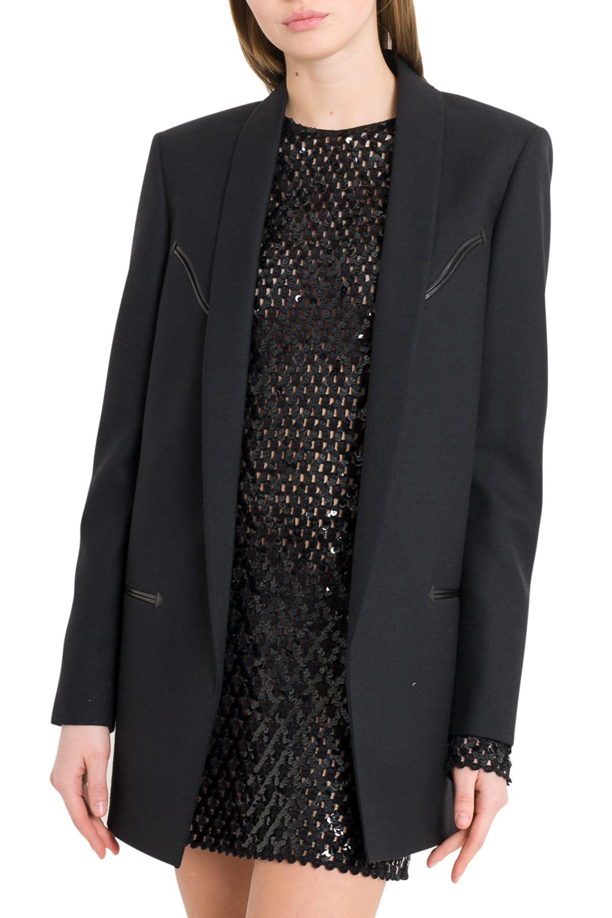 d1180dc9ca Saint Laurent Western-style Jacket In Wool Gabardine