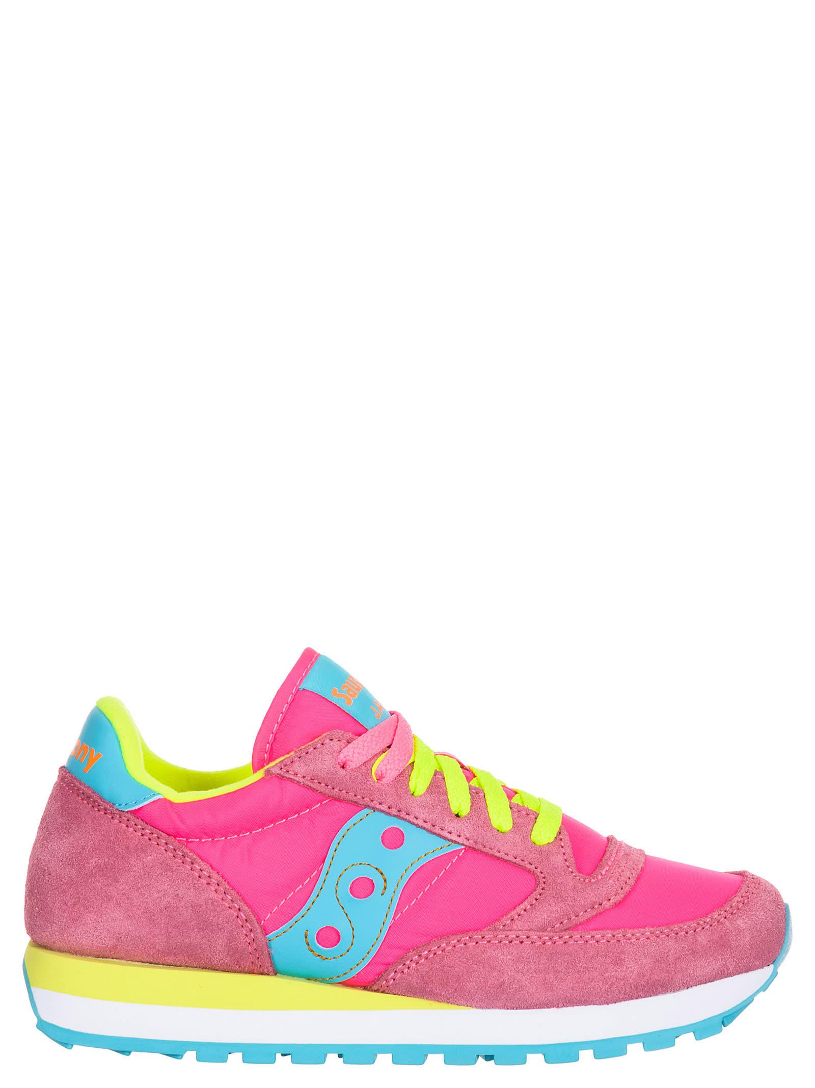 verkkokauppa ennakkotilaus alhaisin alennus Best price on the market at italist | Saucony Saucony Jazz Pink/yellow  Sneakers