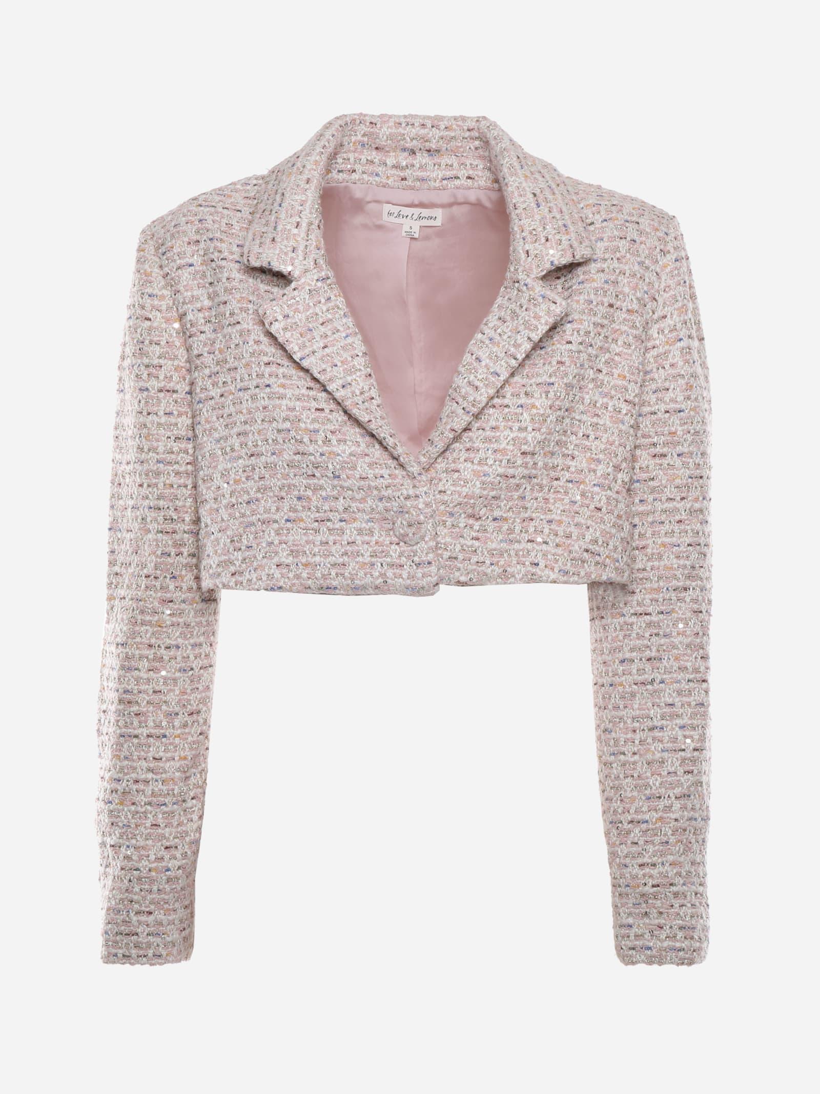Dionne Short Blazer In Tweed
