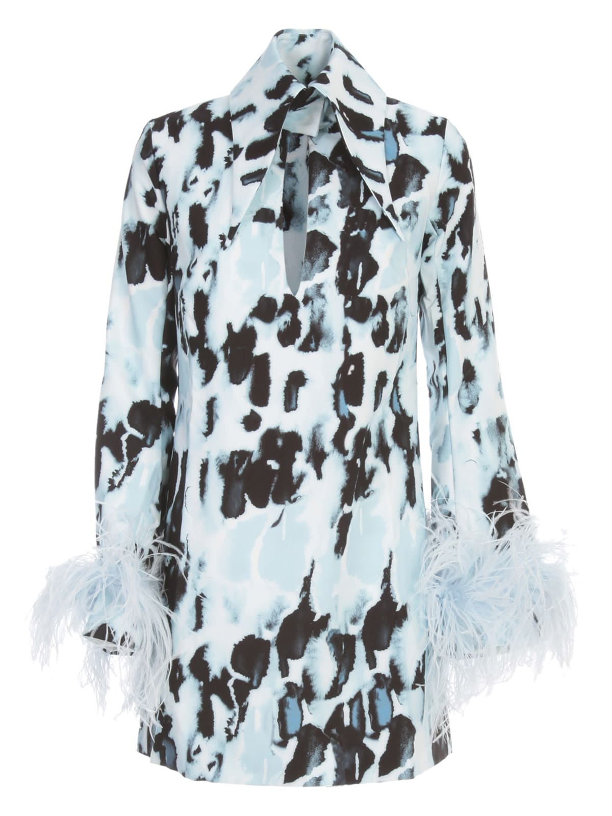 Buy 16arlington Michelle Printed Dress W/feathers On Sleeves online, shop 16arlington with free shipping