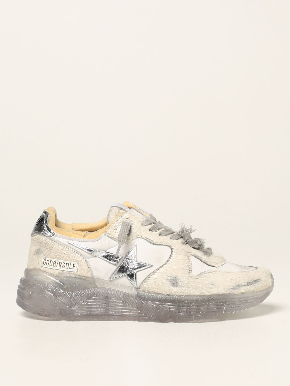 Golden Goose Sneakers Golden Goose Running Sole Sneakers In Pony Leather And Nylon