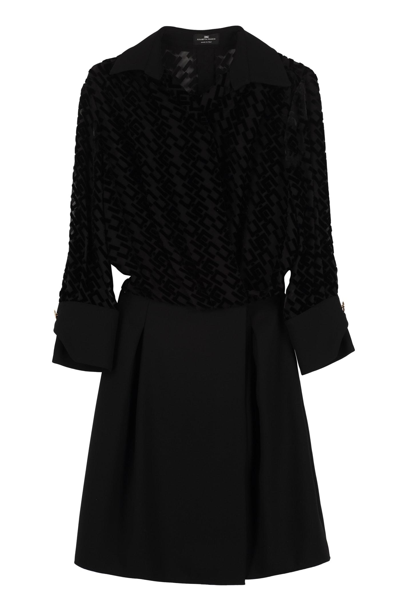 Elisabetta Franchi Celyn B. Devoré Logo Dress