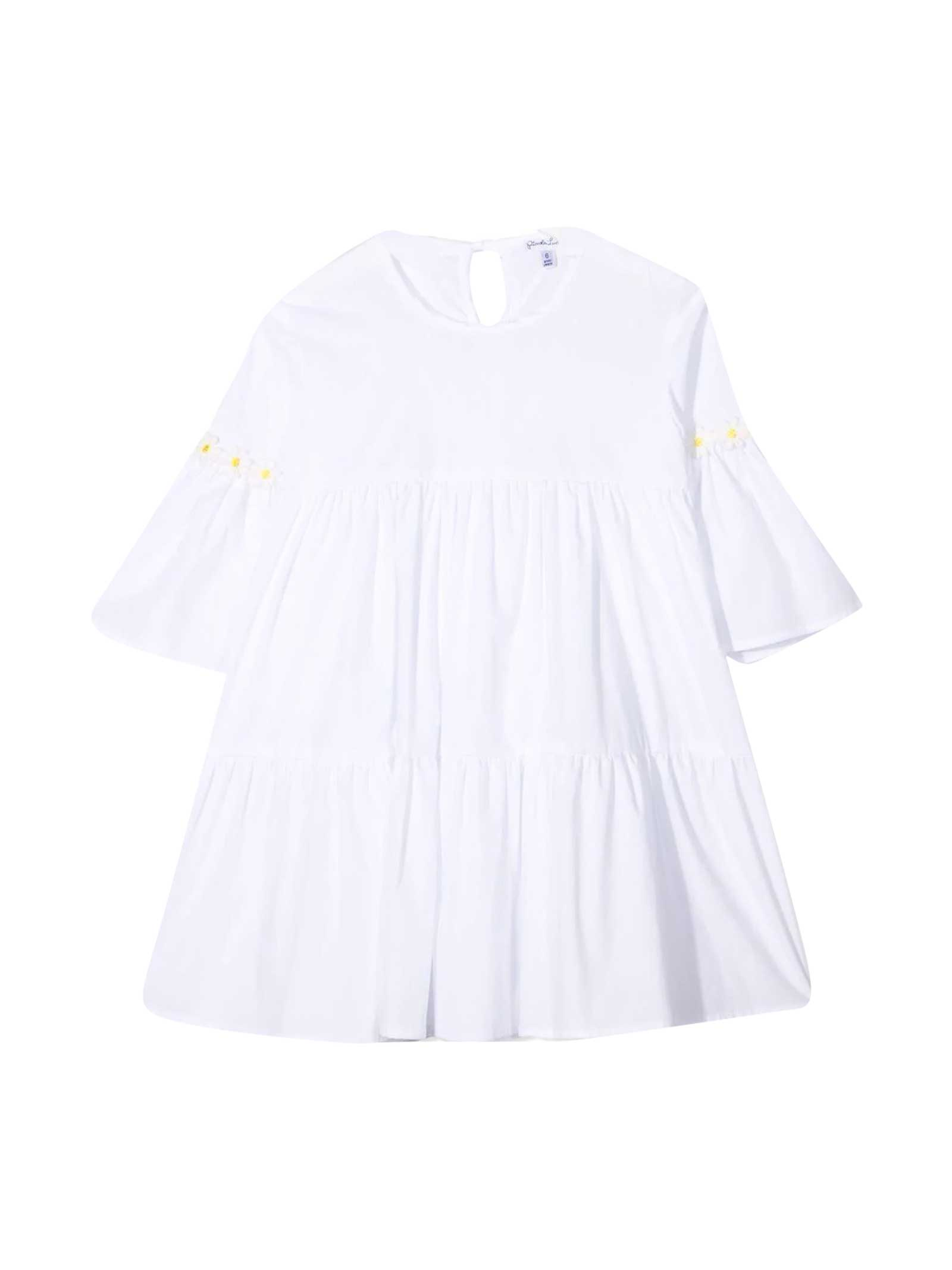 Buy Piccola Ludo White Dress online, shop Piccola Ludo with free shipping