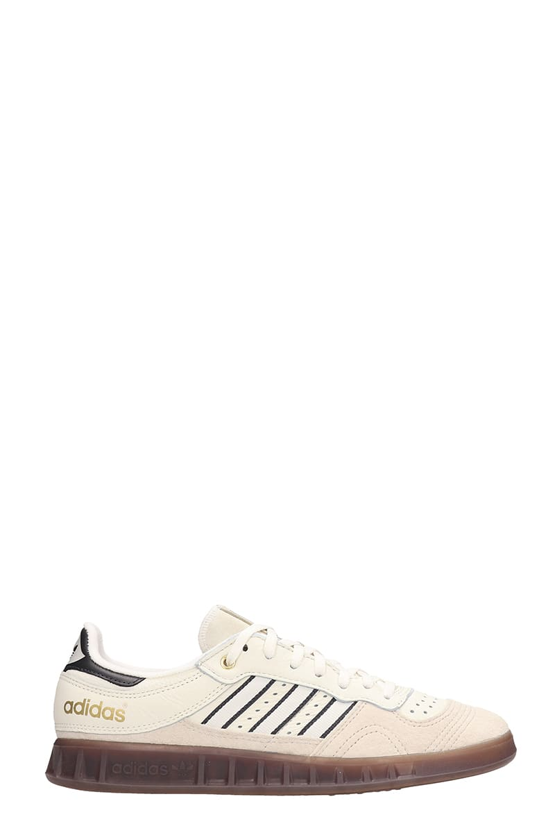 Adidas Handball Top Suede And Leather Sand Sneakers