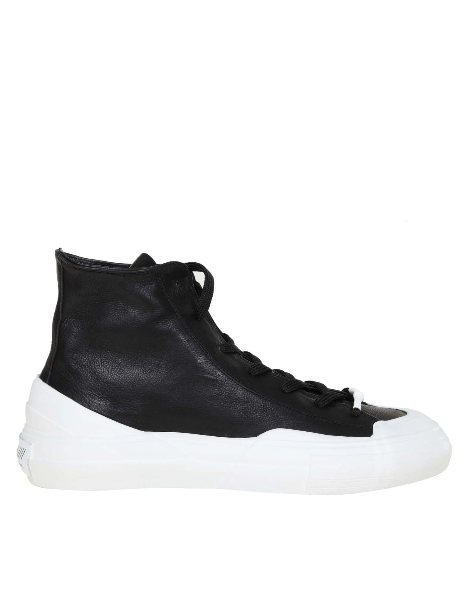 High Sneakers In Black Leather